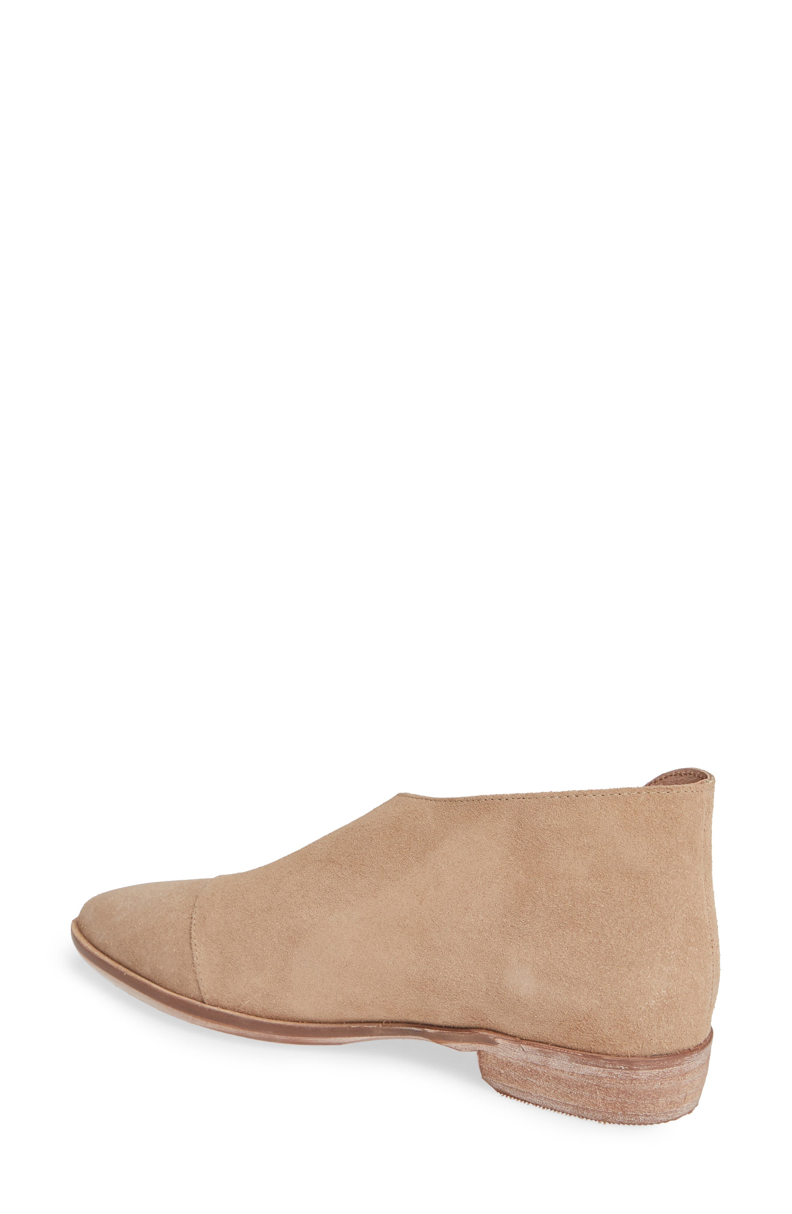 'Royale' Pointy Toe Flat,                             Alternate thumbnail 2, color,                             BEIGE SUEDE