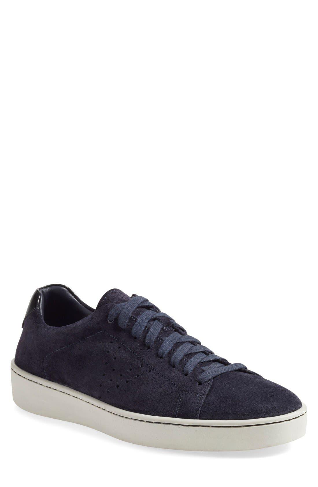 'Simon' Perforated Sneaker,                             Main thumbnail 1, color,                             407