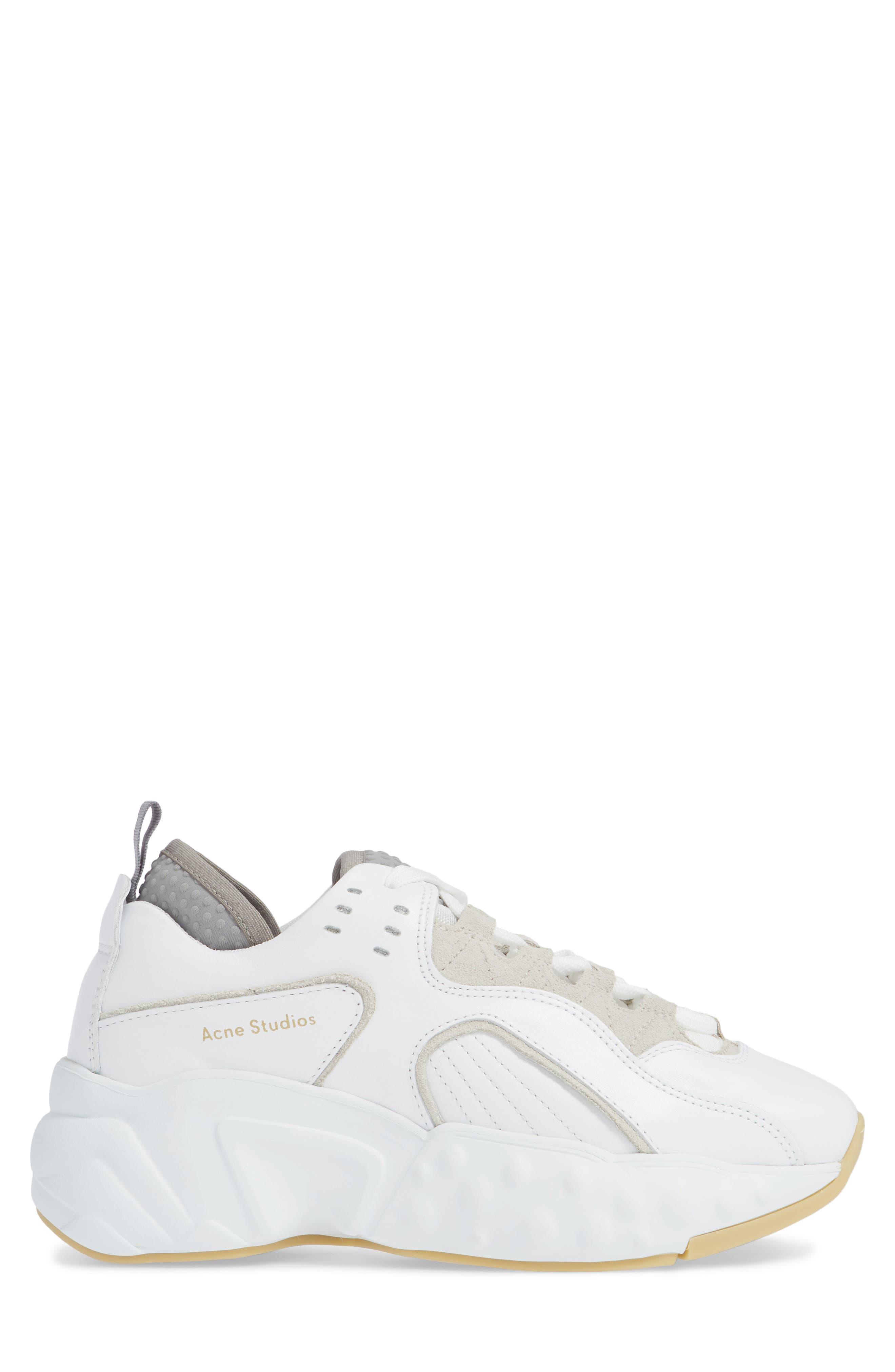 Manhattan Sneaker,                             Alternate thumbnail 3, color,                             WHITE/WHITE