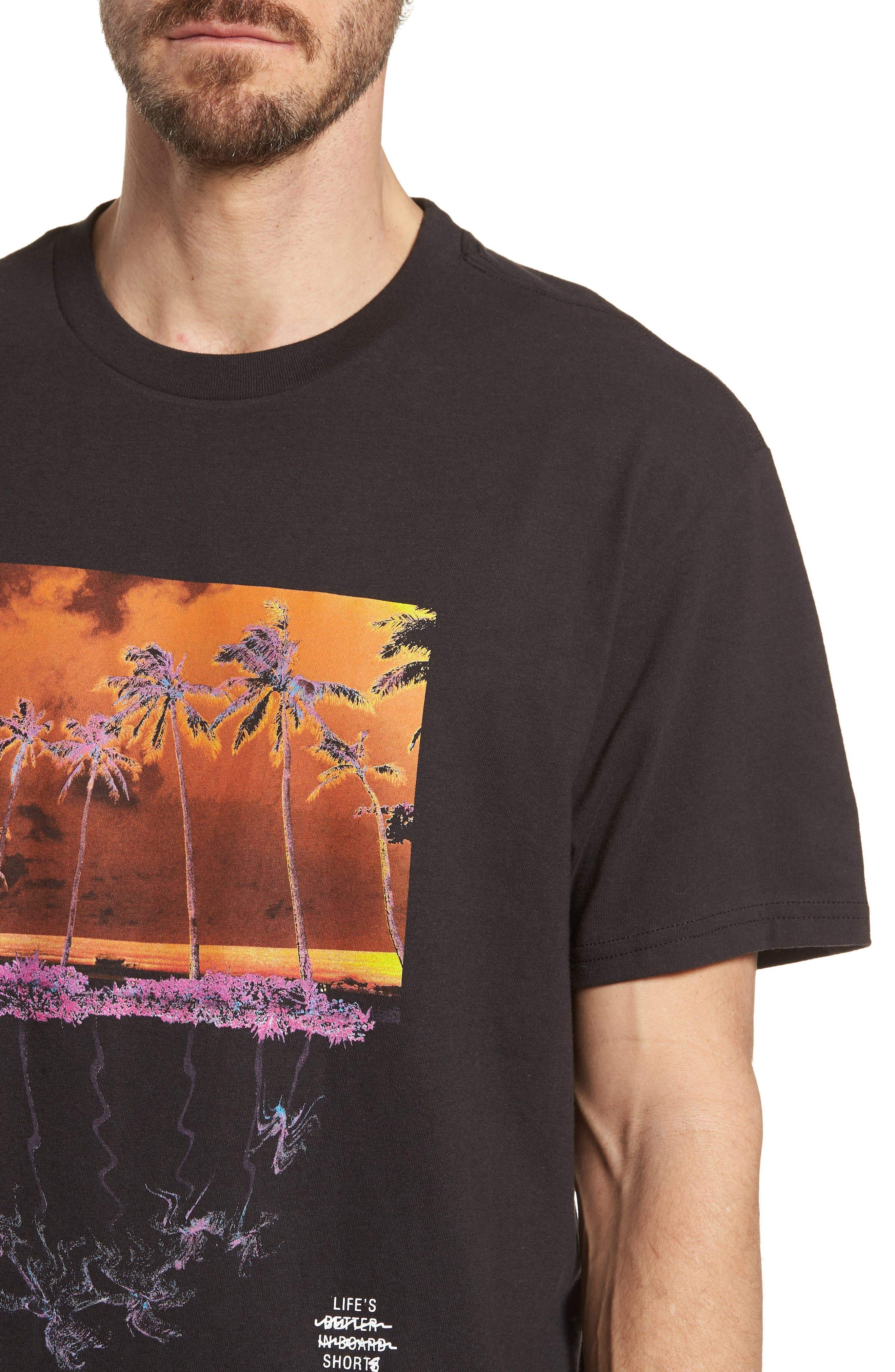 Wavy Graphic T-Shirt,                             Alternate thumbnail 4, color,
