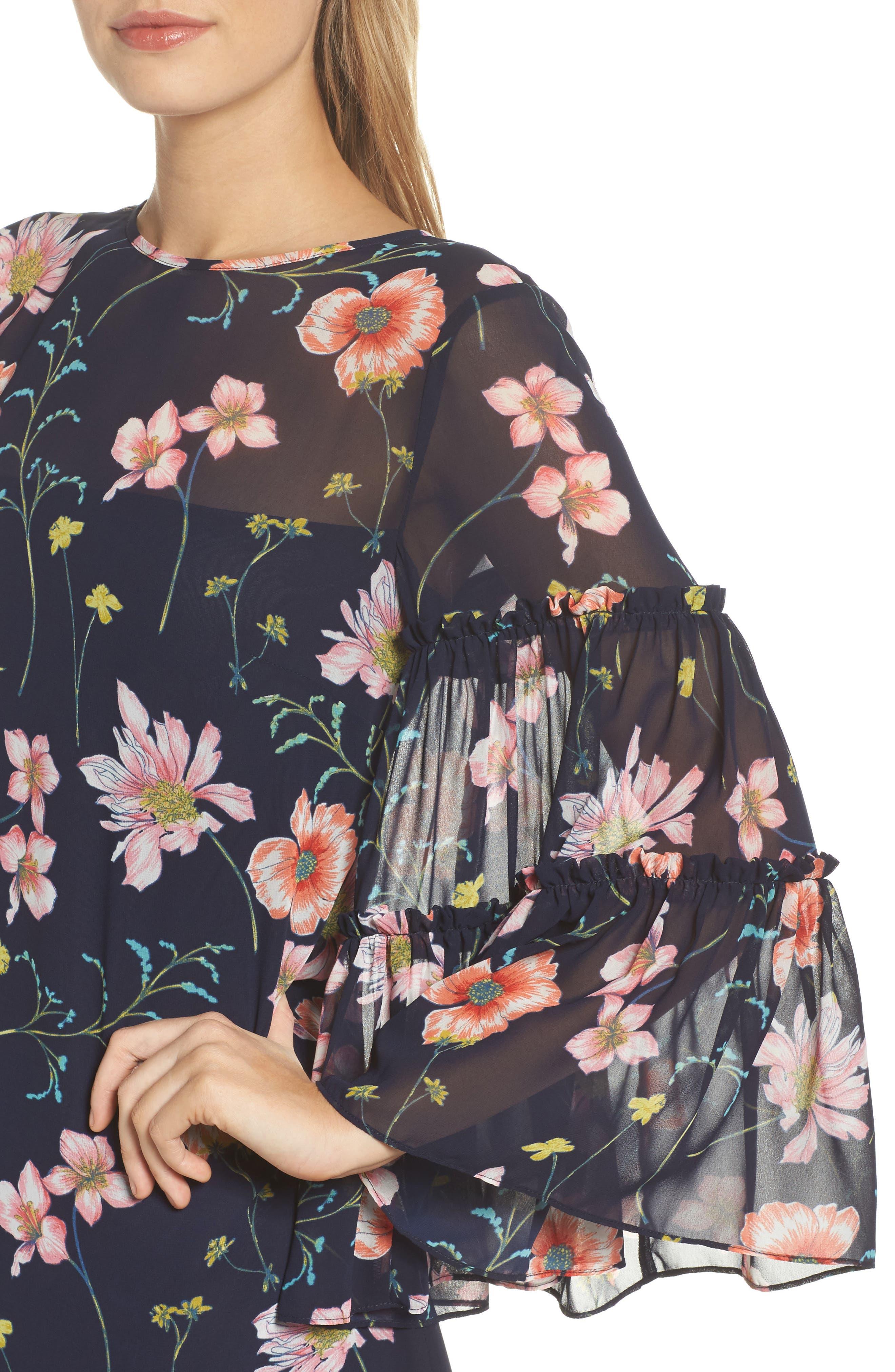 Bell Sleeve Dress,                             Alternate thumbnail 4, color,                             410