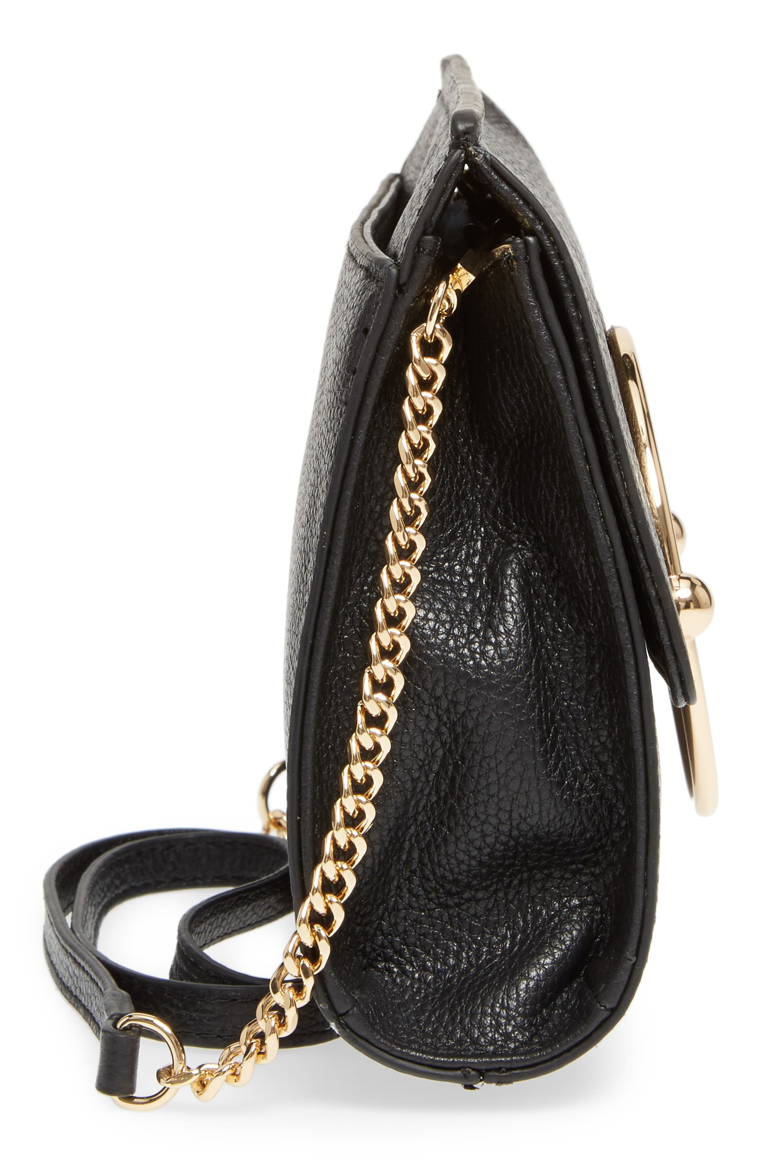 Astor Pebbled Leather Flap Clutch,                             Alternate thumbnail 17, color,