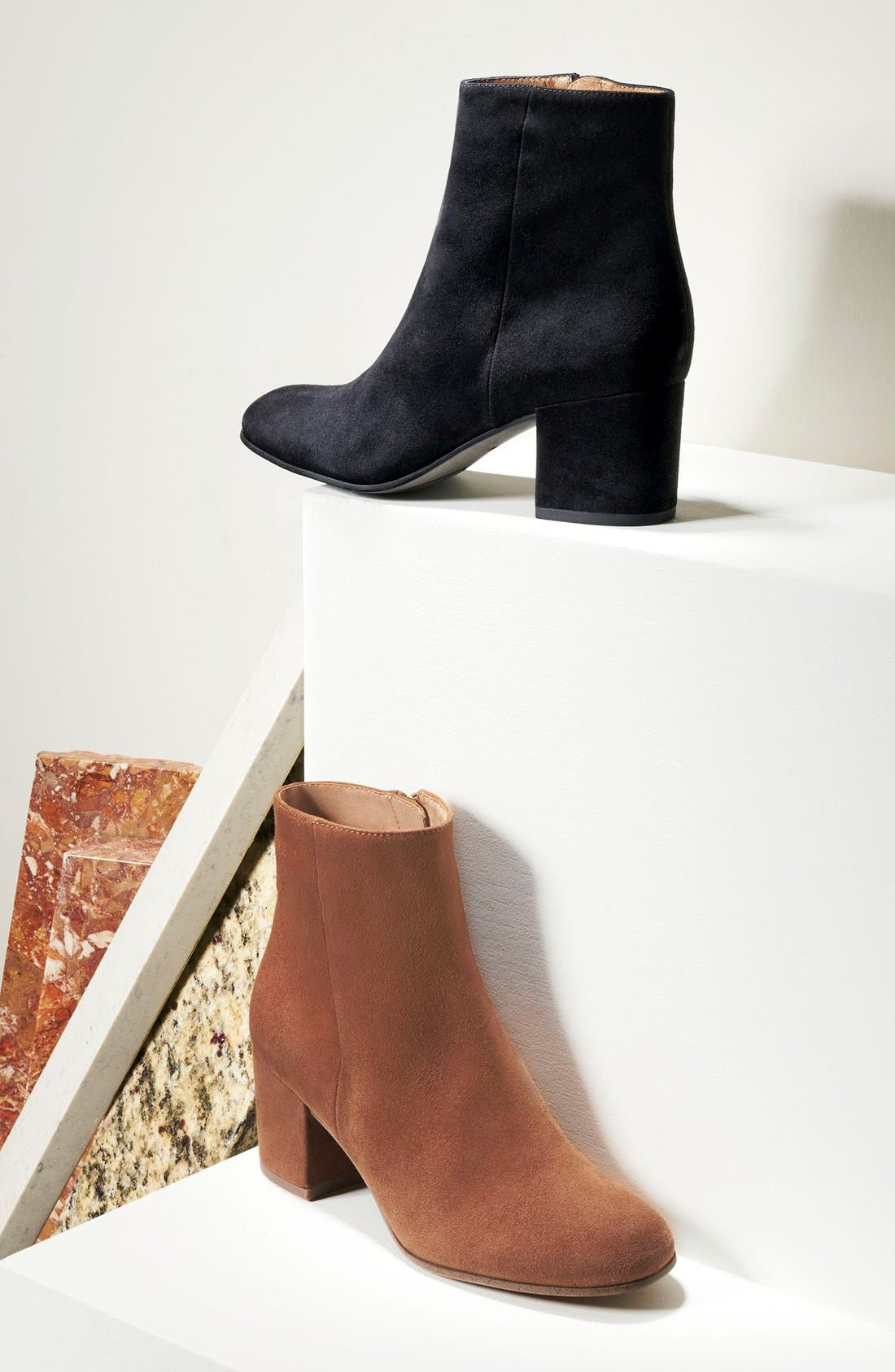 'Cori' Round Toe Bootie,                             Alternate thumbnail 5, color,                             001