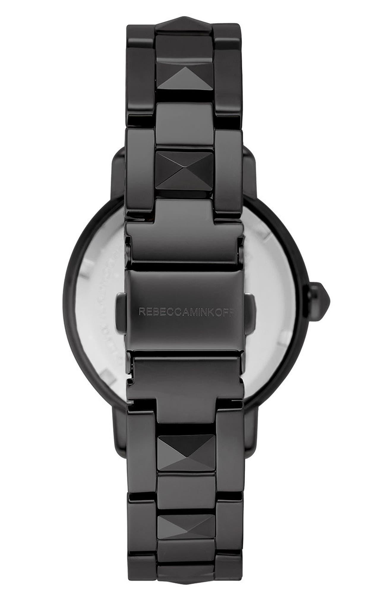 REBECCA MINKOFF,                             BFFL Bracelet Watch, 36mm,                             Alternate thumbnail 2, color,                             001