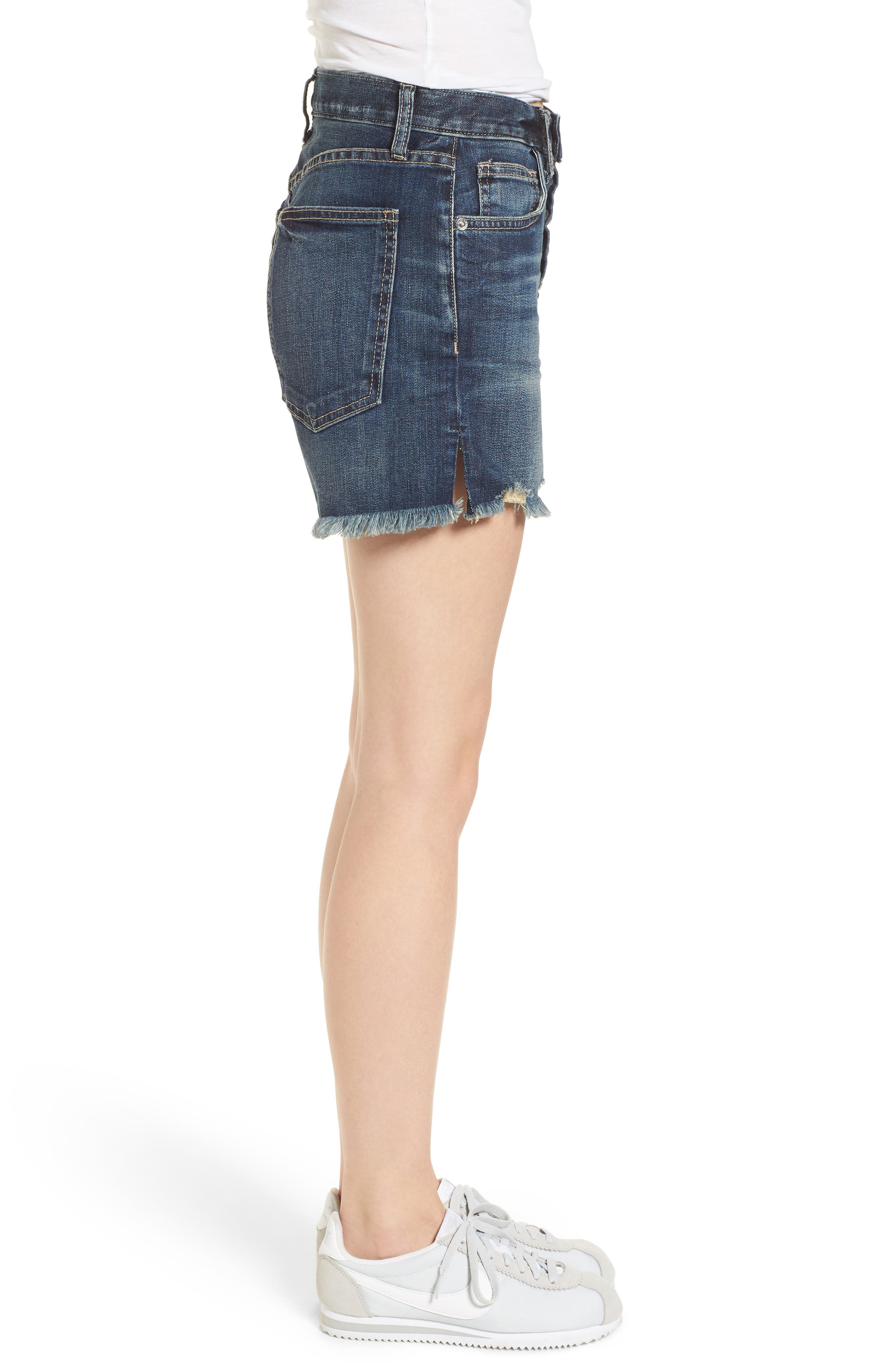 The Ultra High Waist Cutoff Denim Shorts,                             Alternate thumbnail 3, color,                             490