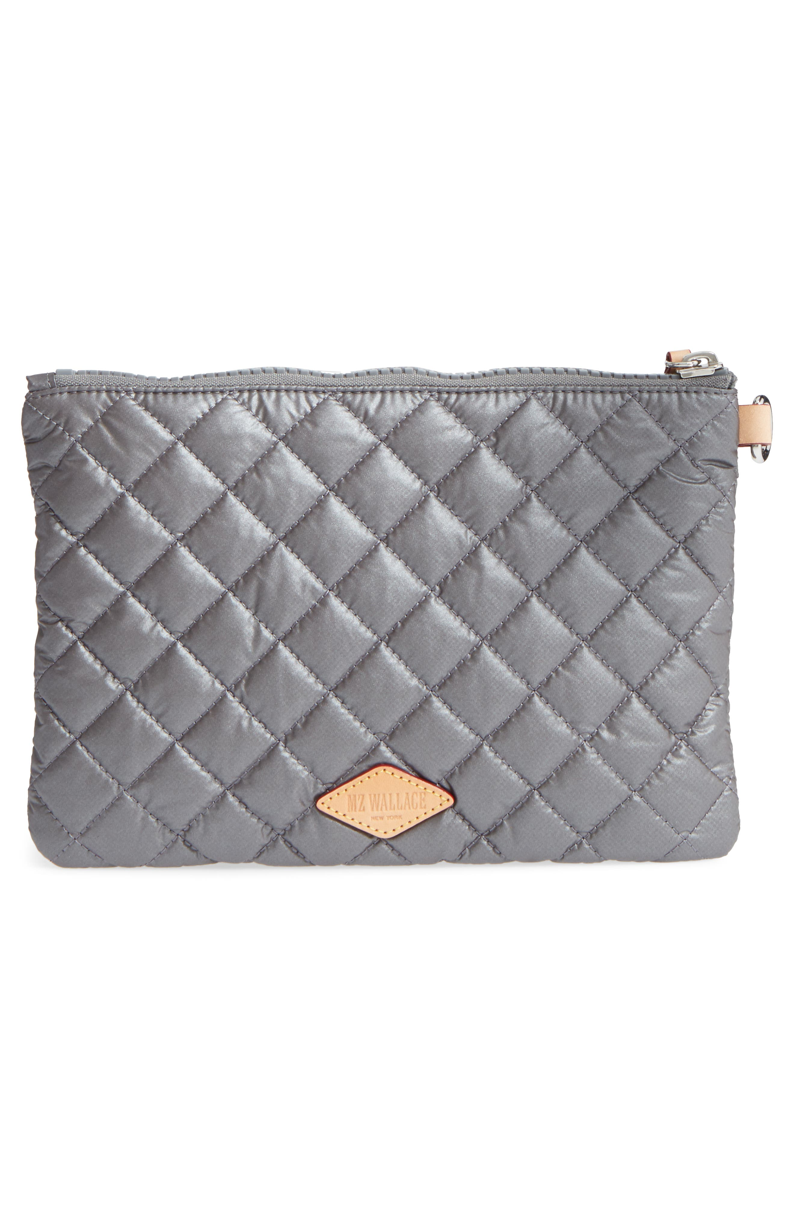 Small Metro Quilted Oxford Nylon Zip Pouch,                             Alternate thumbnail 10, color,