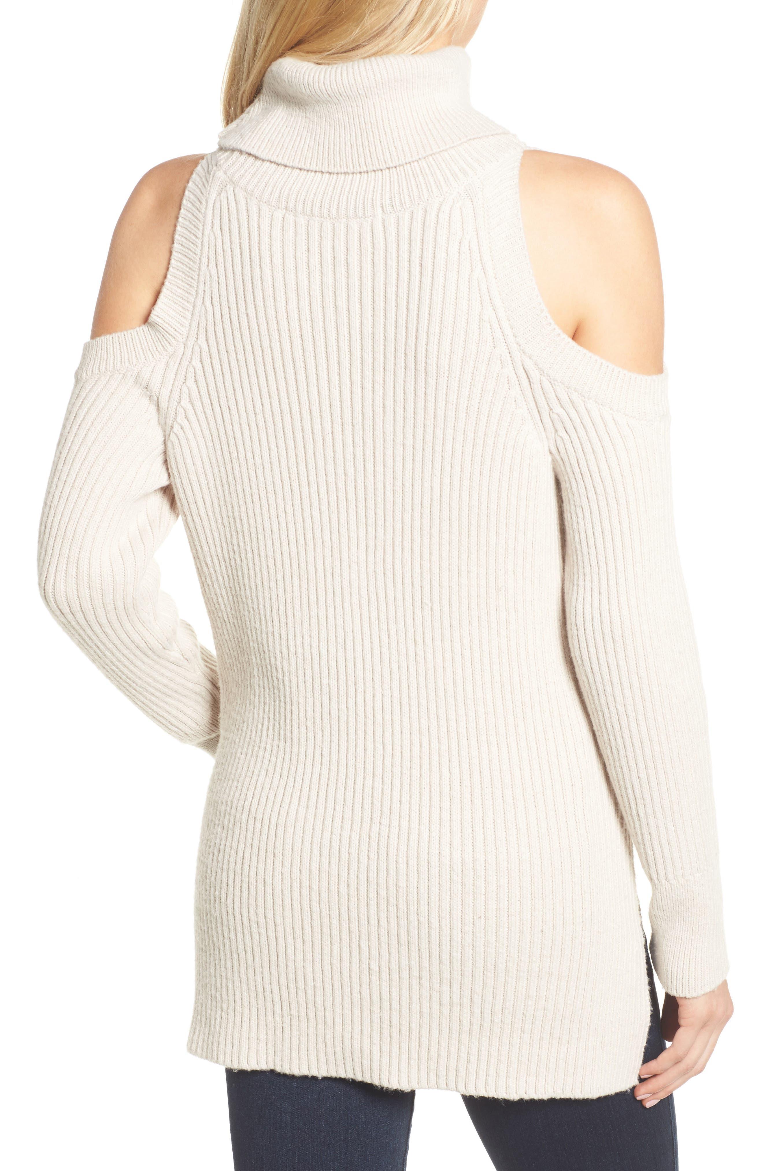 Rodell Cold Shoulder Sweater,                             Alternate thumbnail 4, color,