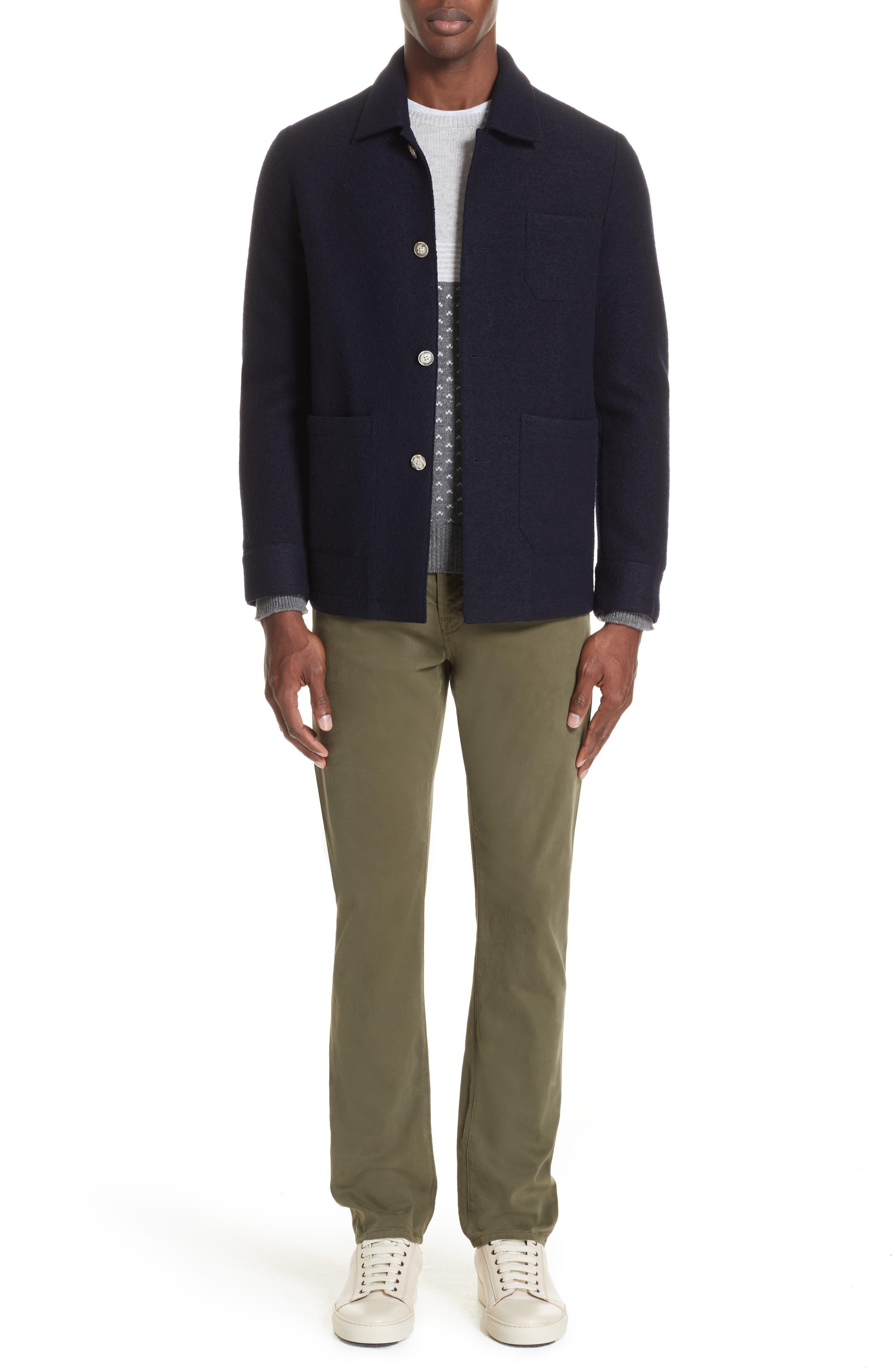Trim Fit Cashmere Sweater,                             Alternate thumbnail 7, color,                             GREY
