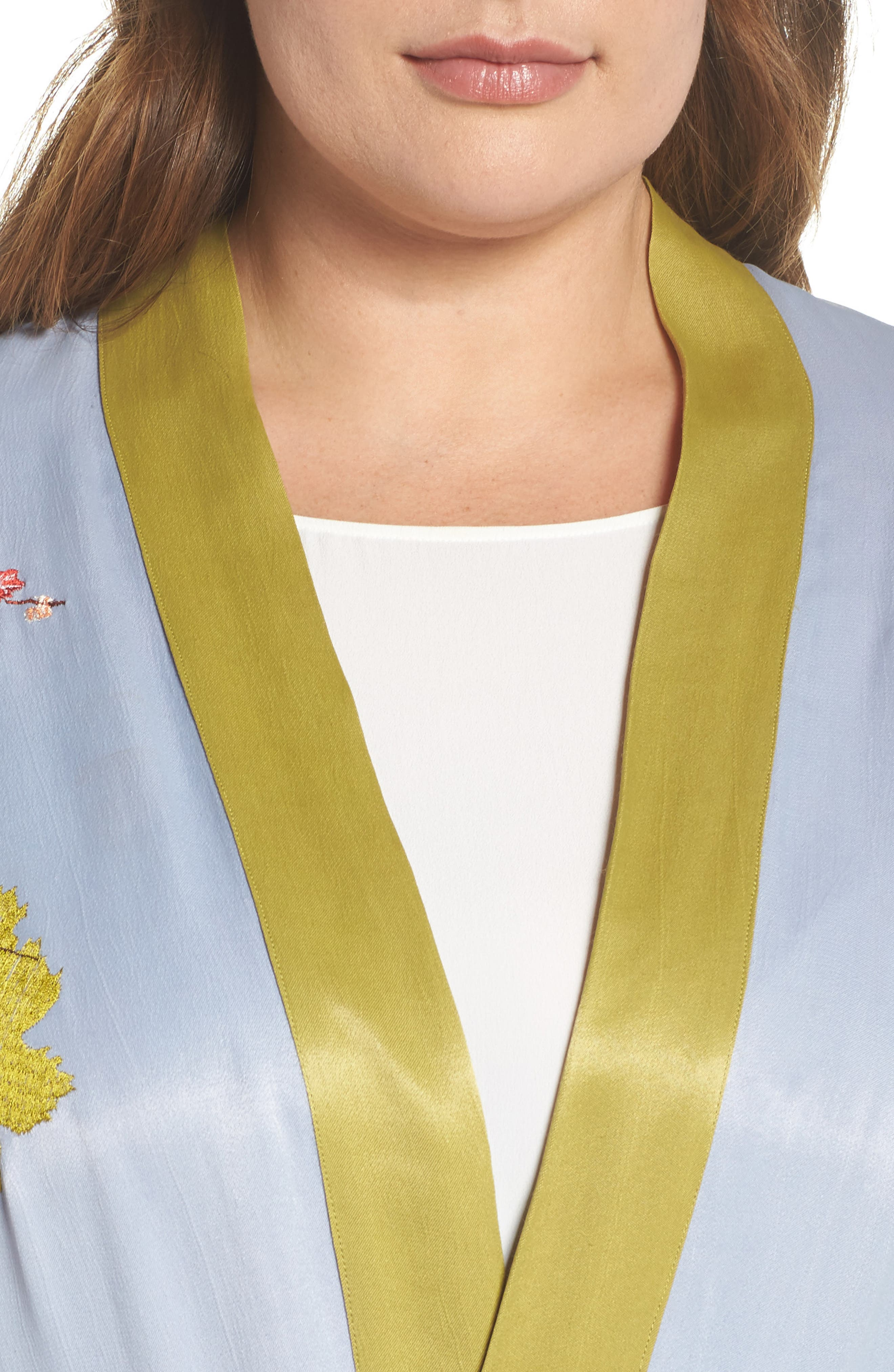 Embroidered Kimono,                             Alternate thumbnail 4, color,