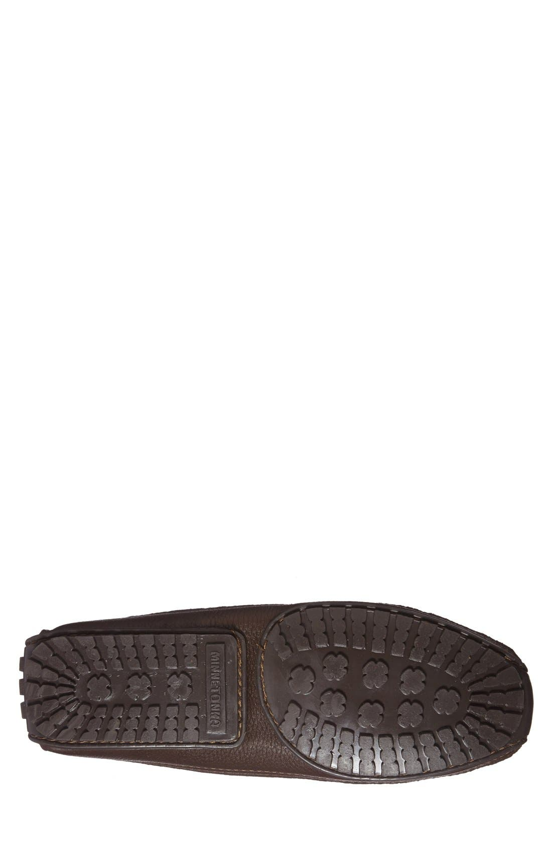 Moosehide Moccasin,                             Alternate thumbnail 3, color,                             CHOCOLATE