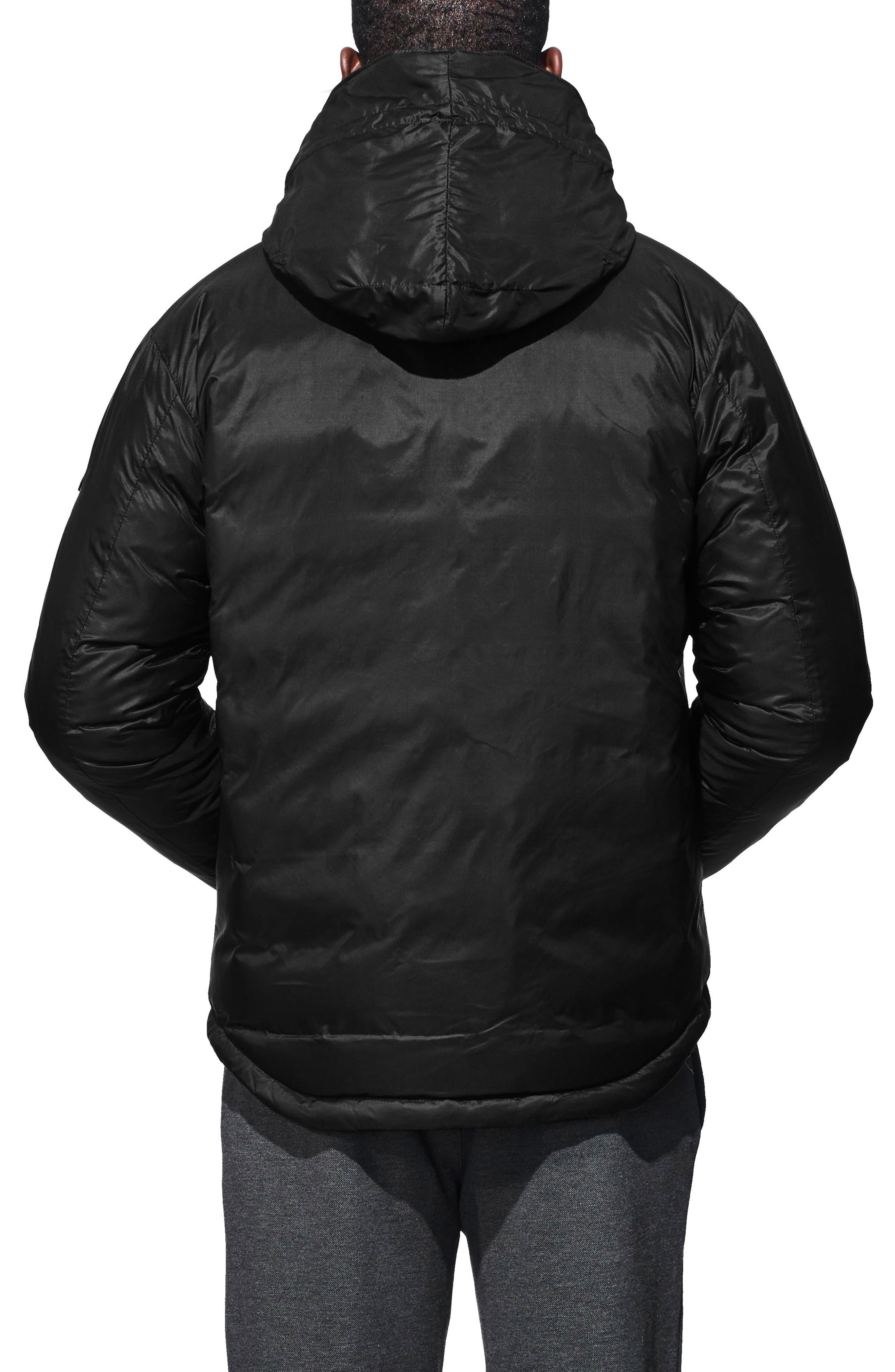 'Lodge' Slim Fit Packable Jacket,                             Alternate thumbnail 2, color,                             BLACK