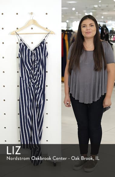 Stripe Ruched Slipdress, sales video thumbnail