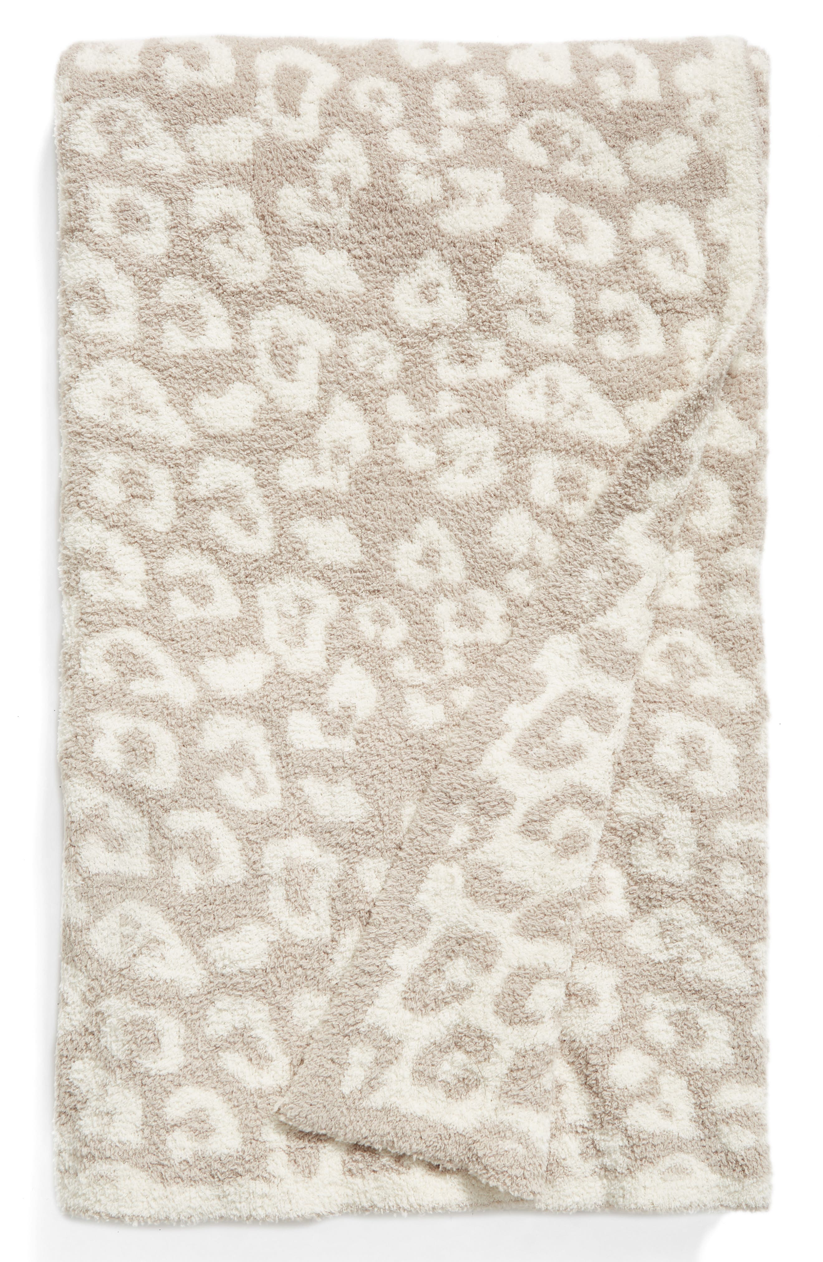 CozyChic 'In the Wild' Throw Blanket,                             Main thumbnail 1, color,                             STONE/ CREAM