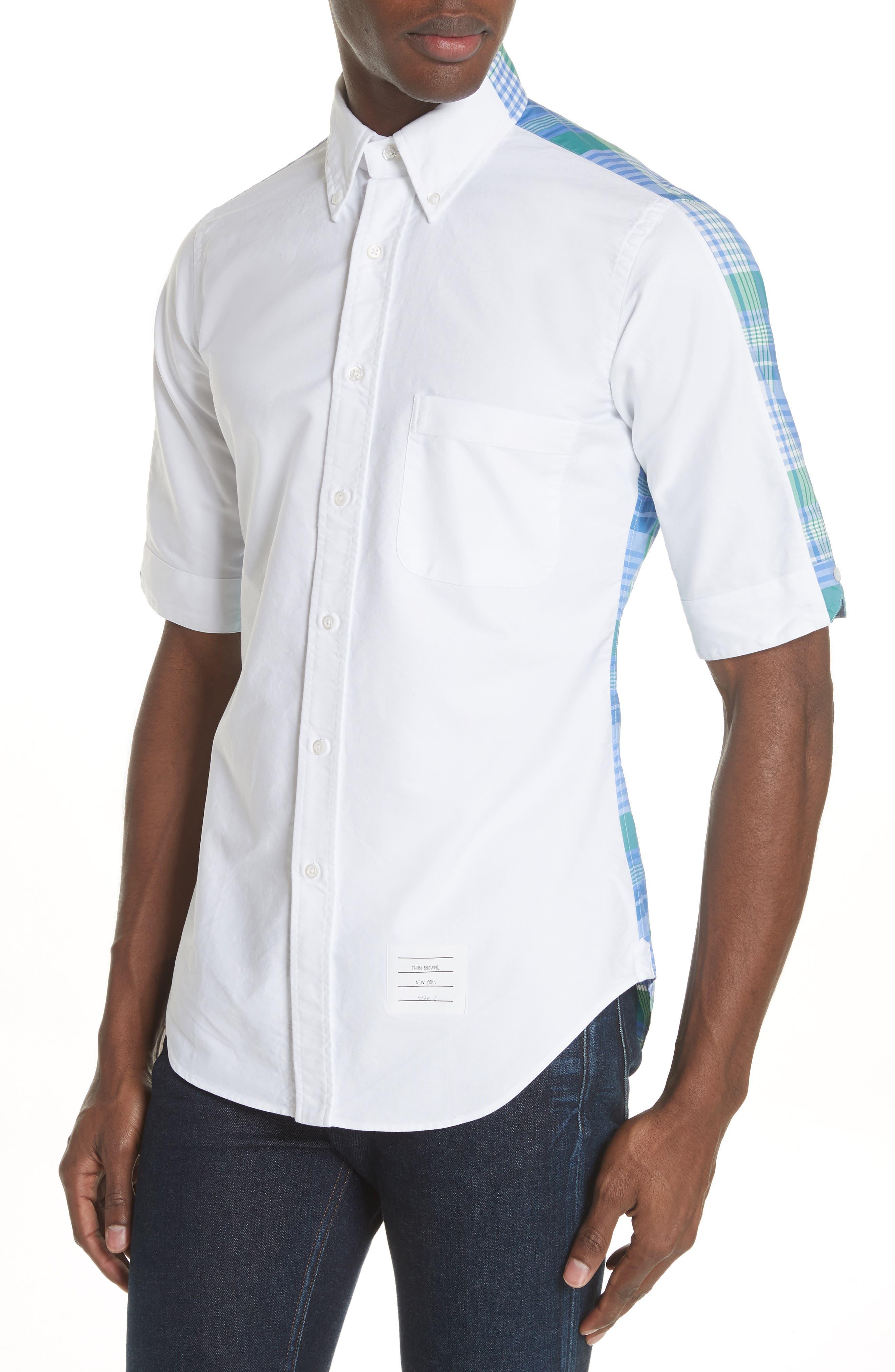 Solid & Plaid Woven Shirt,                             Alternate thumbnail 4, color,                             470