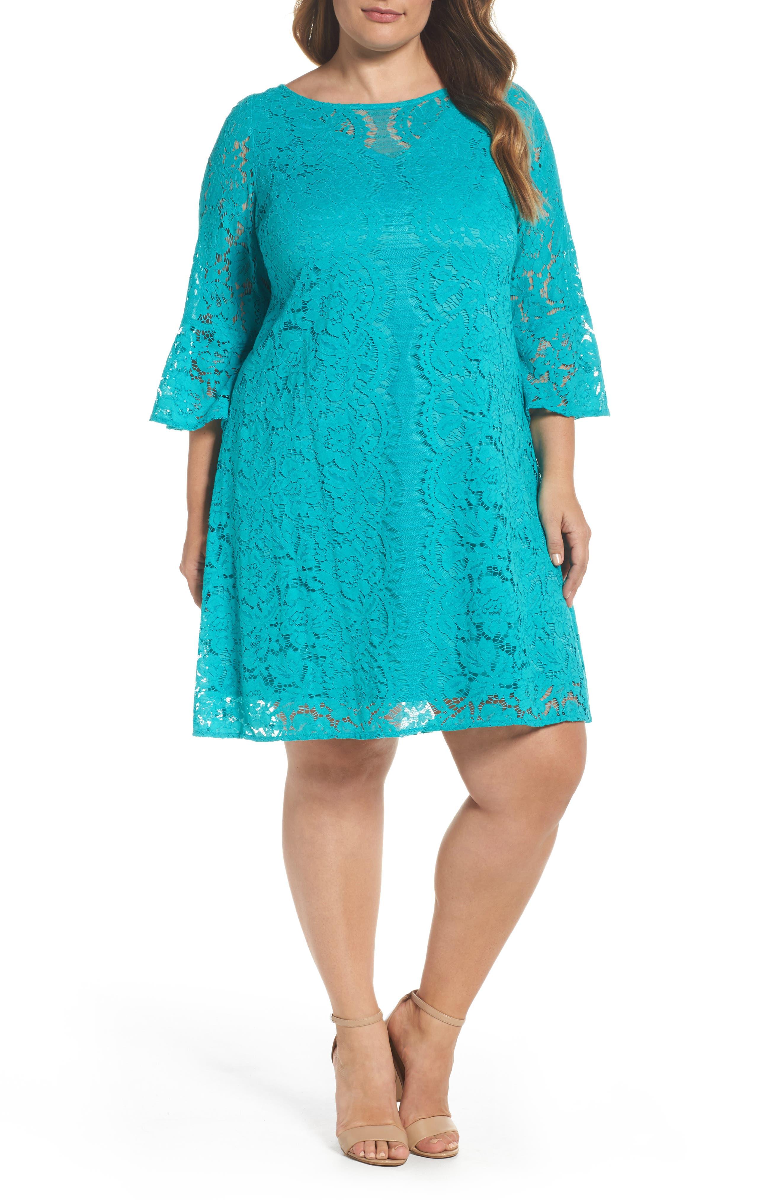 Lace A-Line Dress,                             Main thumbnail 2, color,