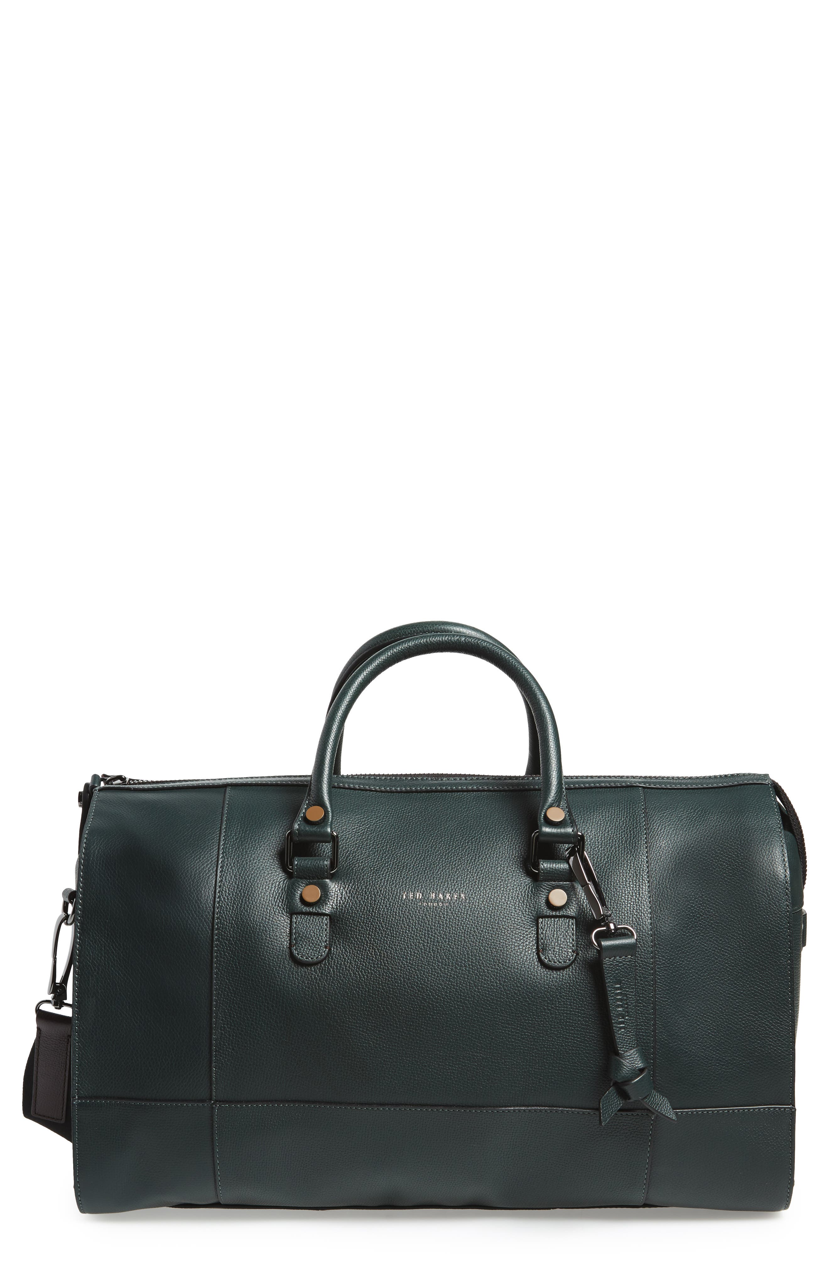 Panthea Leather Duffel Bag,                             Main thumbnail 1, color,                             301