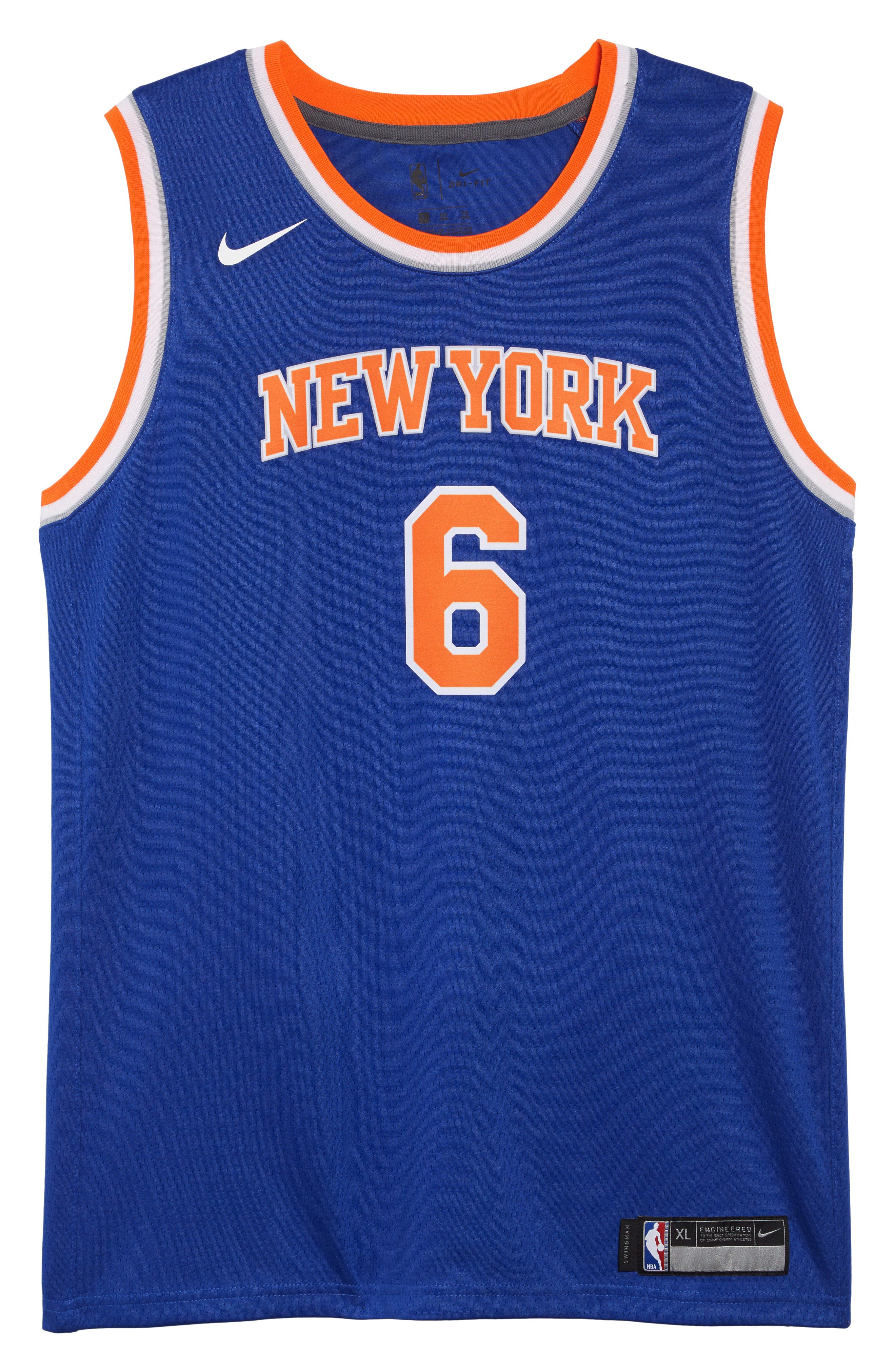 ... promo code for new york knicks kristaps porzingis basketball jersey  main color rush blue 9a1f6 6a1cd d39e0231c