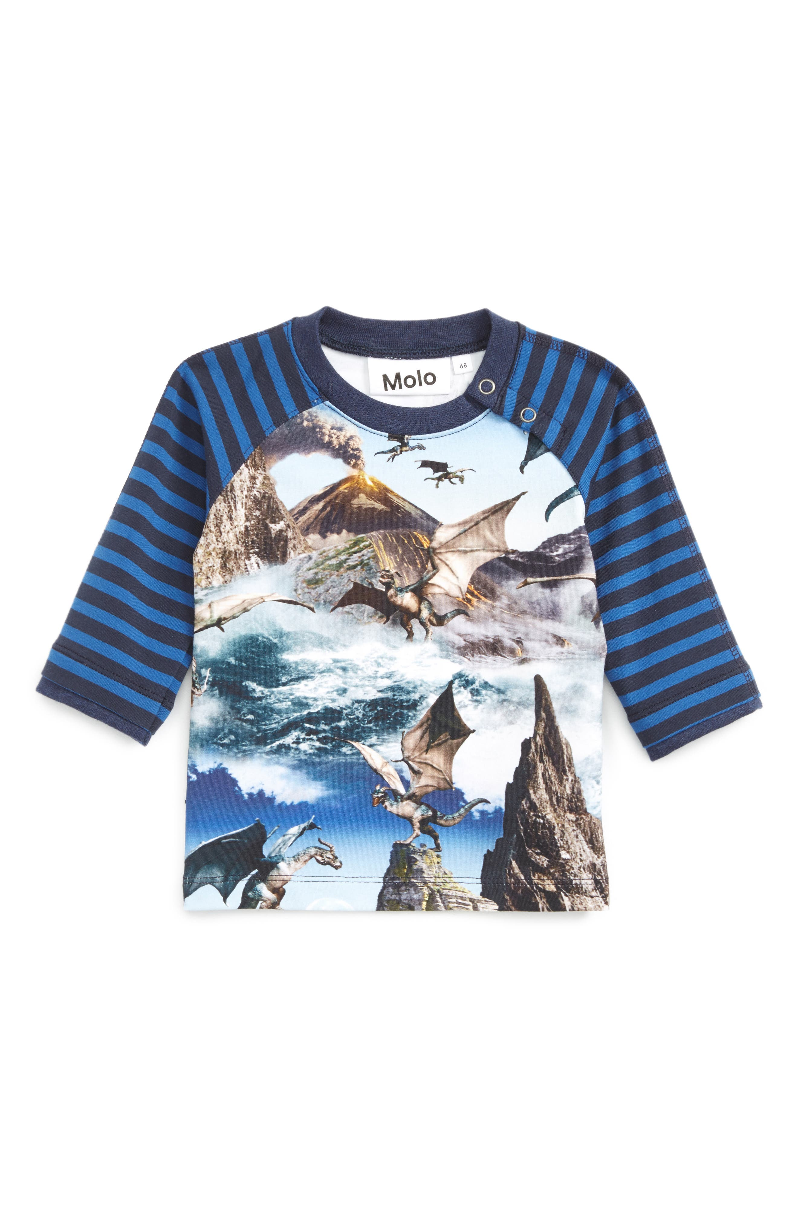 Elton Mixed Print Raglan Sleeve T-Shirt,                         Main,                         color, 400