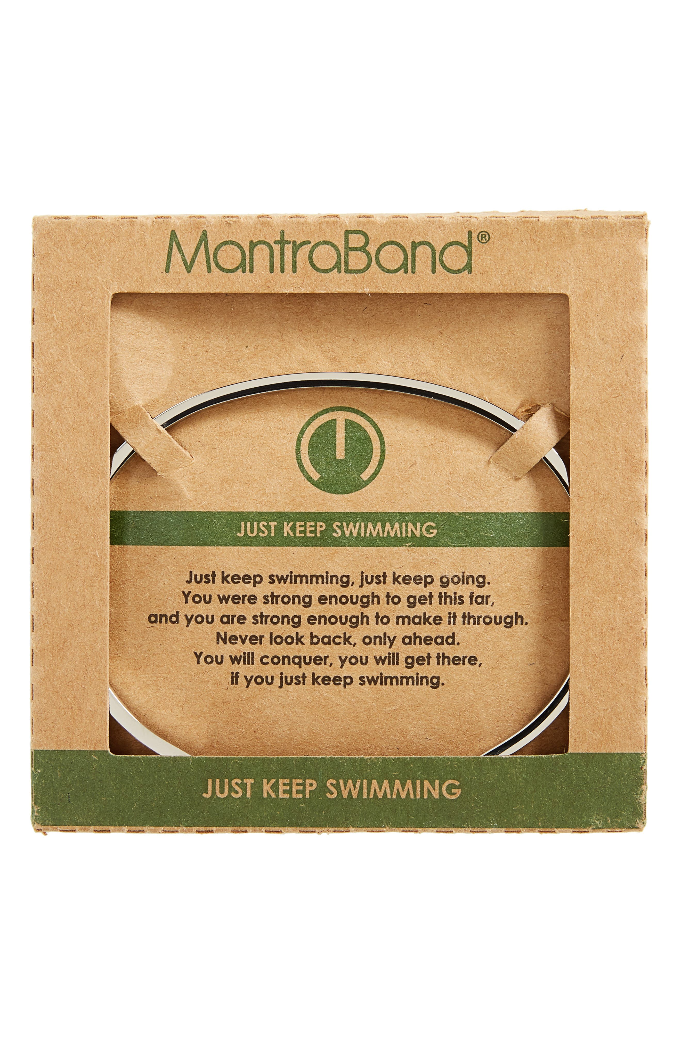 Just Keep Swimming Engraved Cuff,                             Alternate thumbnail 4, color,