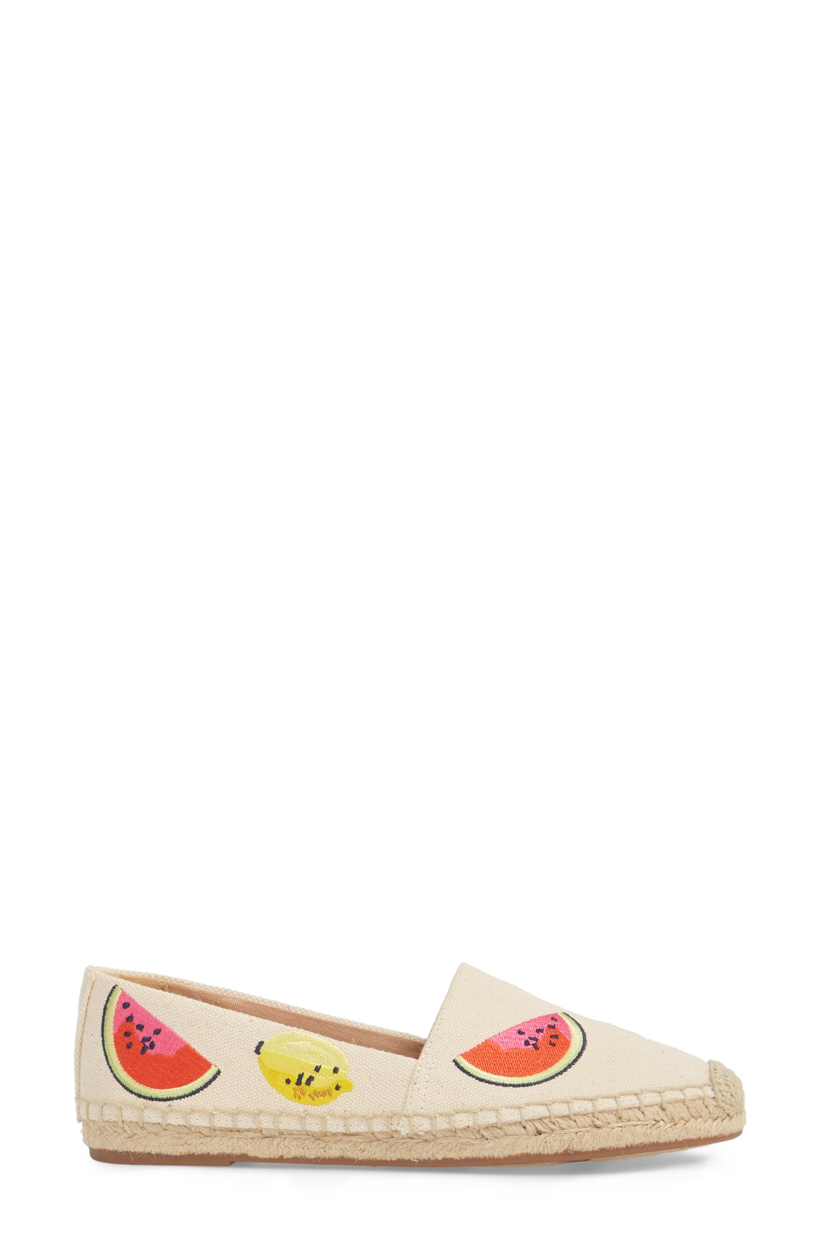 Fruit Salad Embroidered Espadrille,                             Alternate thumbnail 3, color,                             250