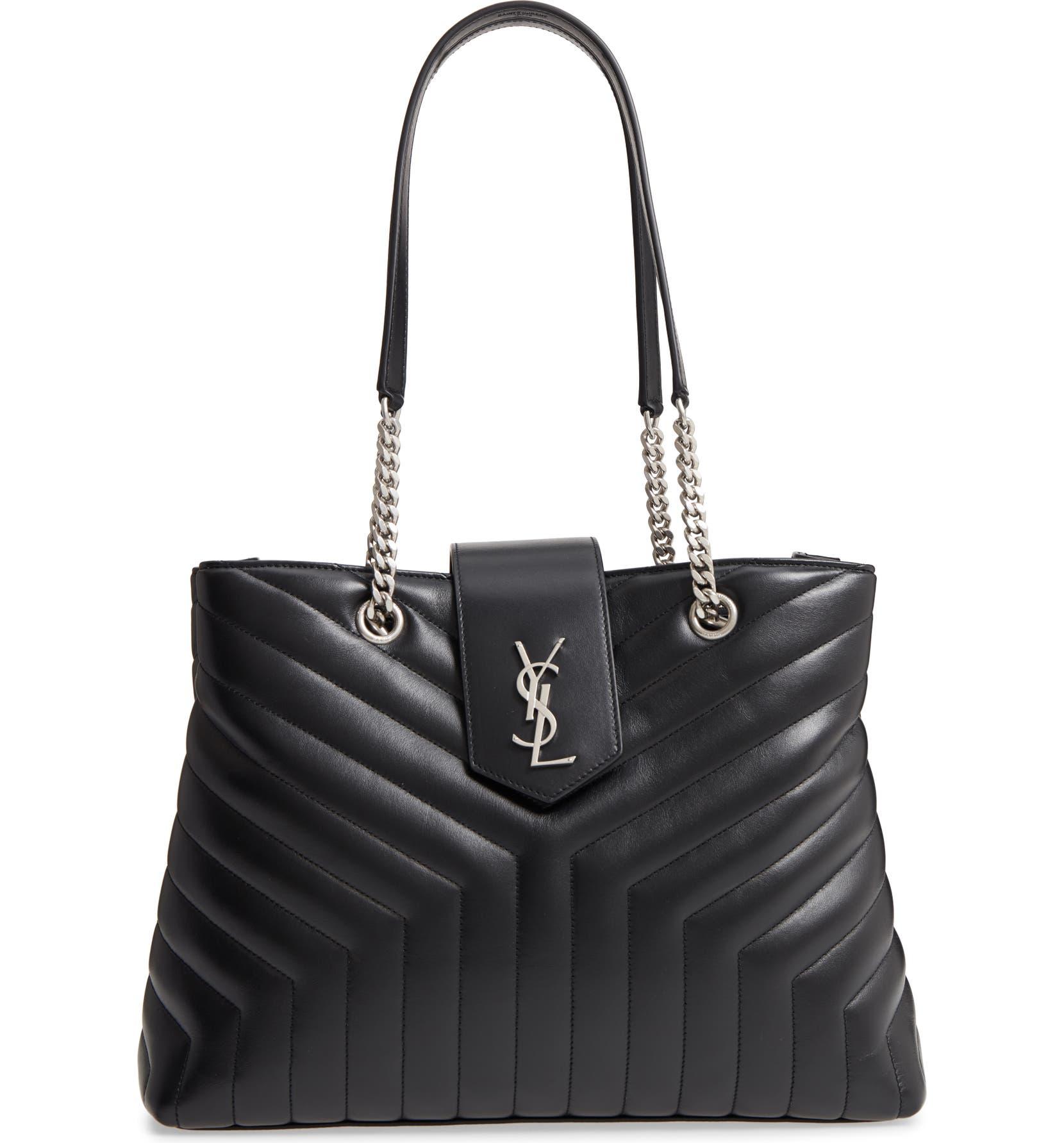0c9210ba6590c Saint Laurent Large Loulou Matelassé Leather Shopper