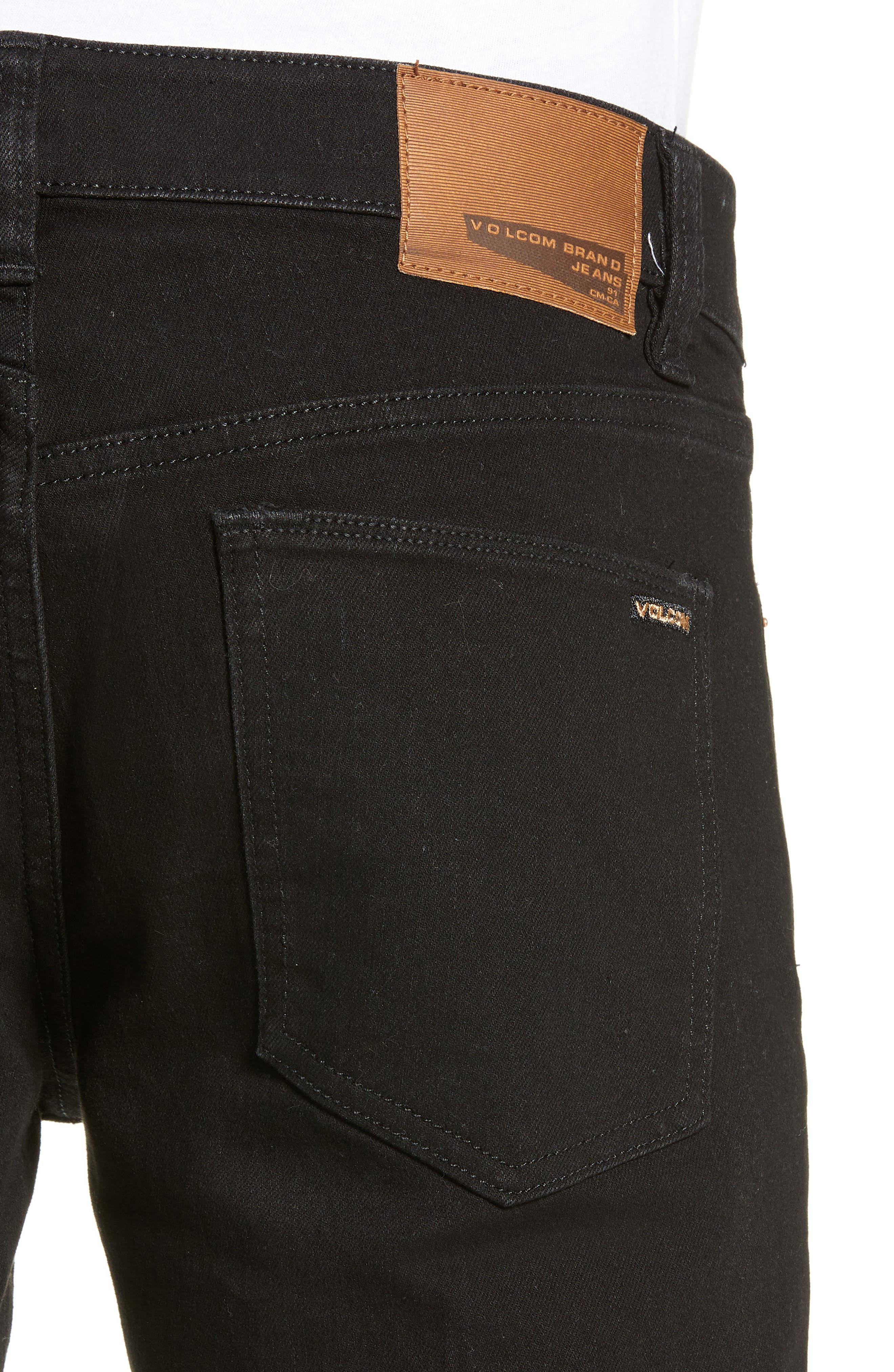 'Vorta' Slim Fit Jeans,                             Alternate thumbnail 4, color,                             BLACK OUT
