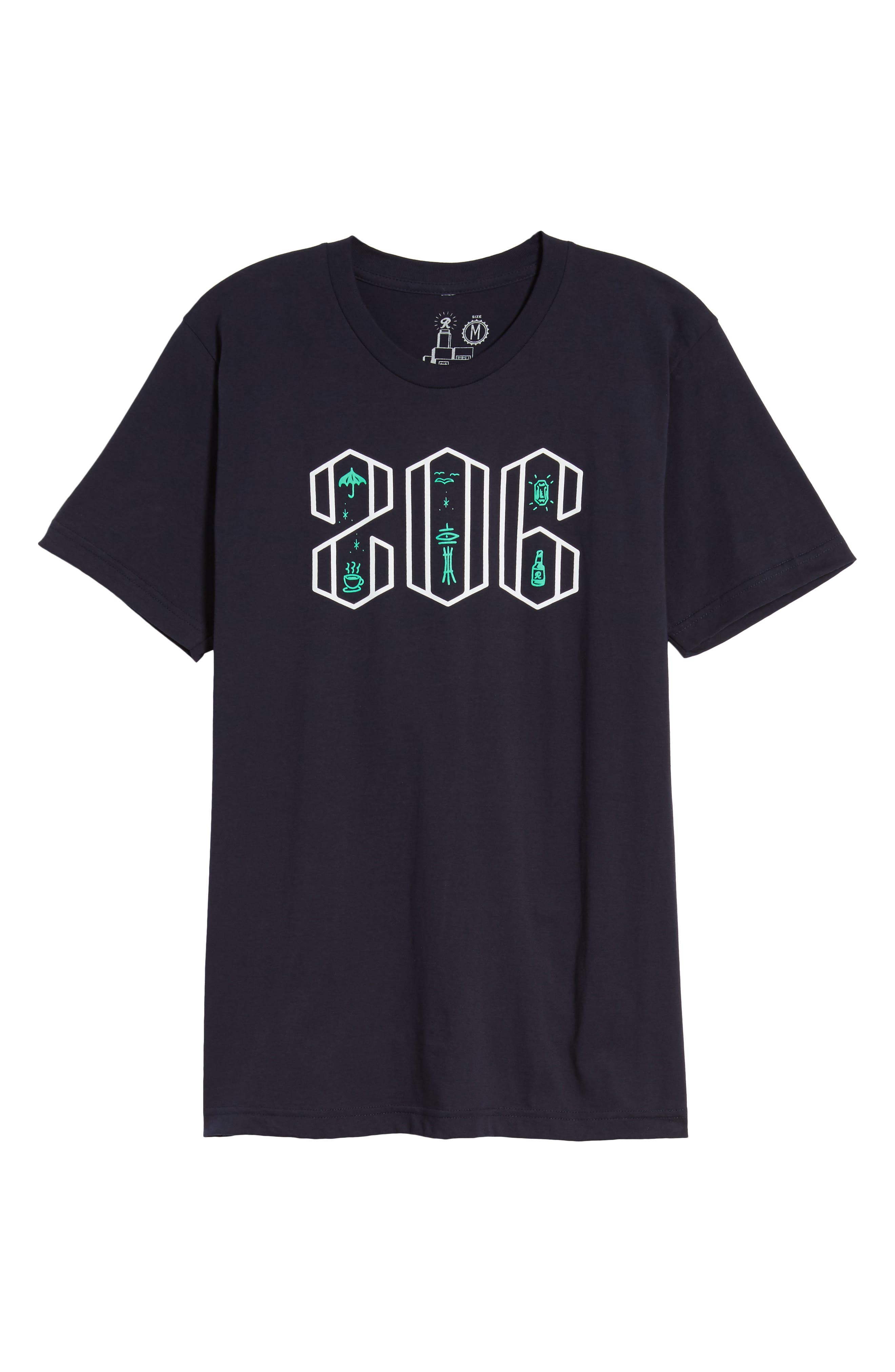 Area Code Icons Graphic T-Shirt,                             Alternate thumbnail 6, color,