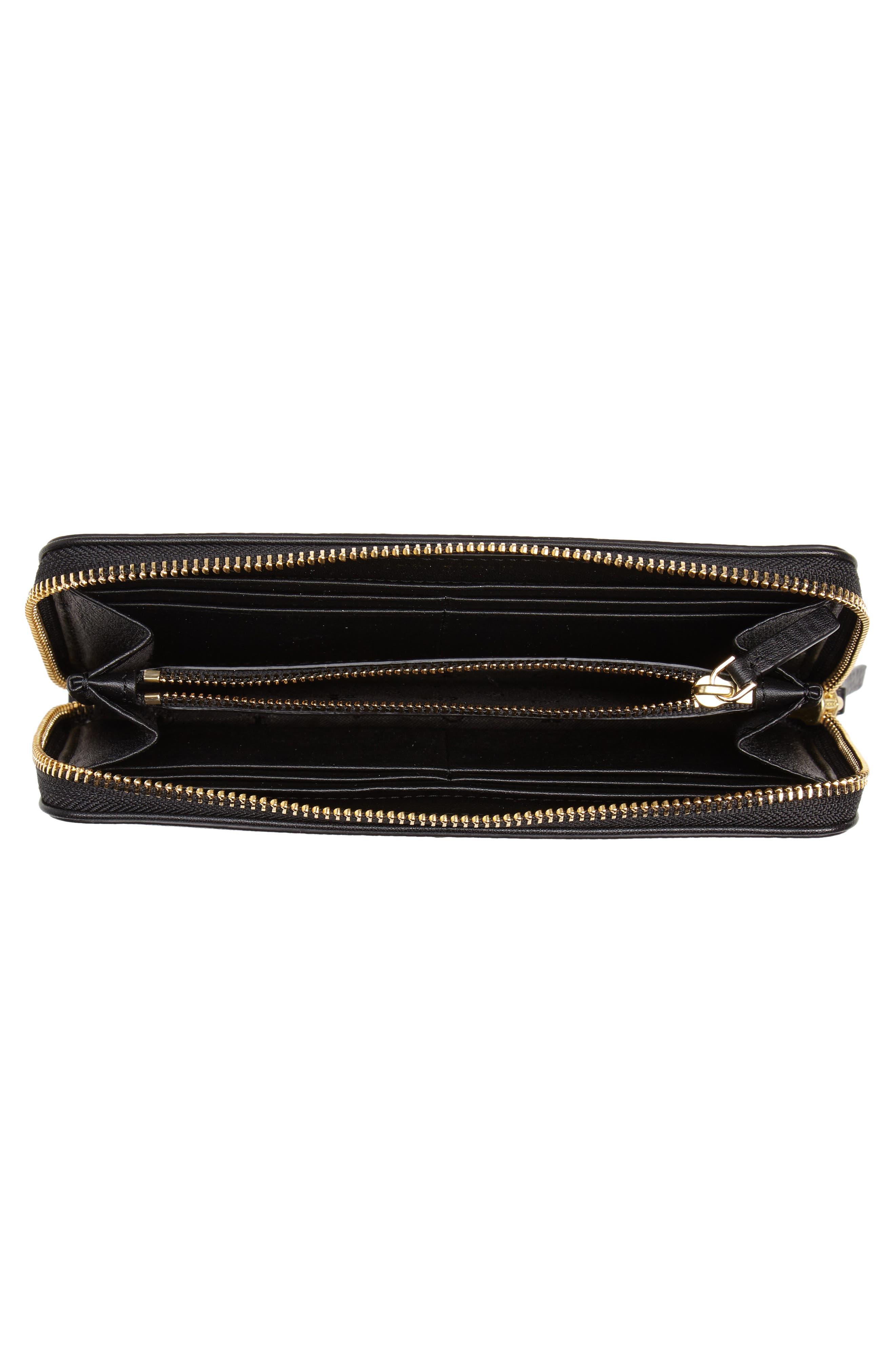 Marsden Leather Zip Around Wallet,                             Alternate thumbnail 10, color,