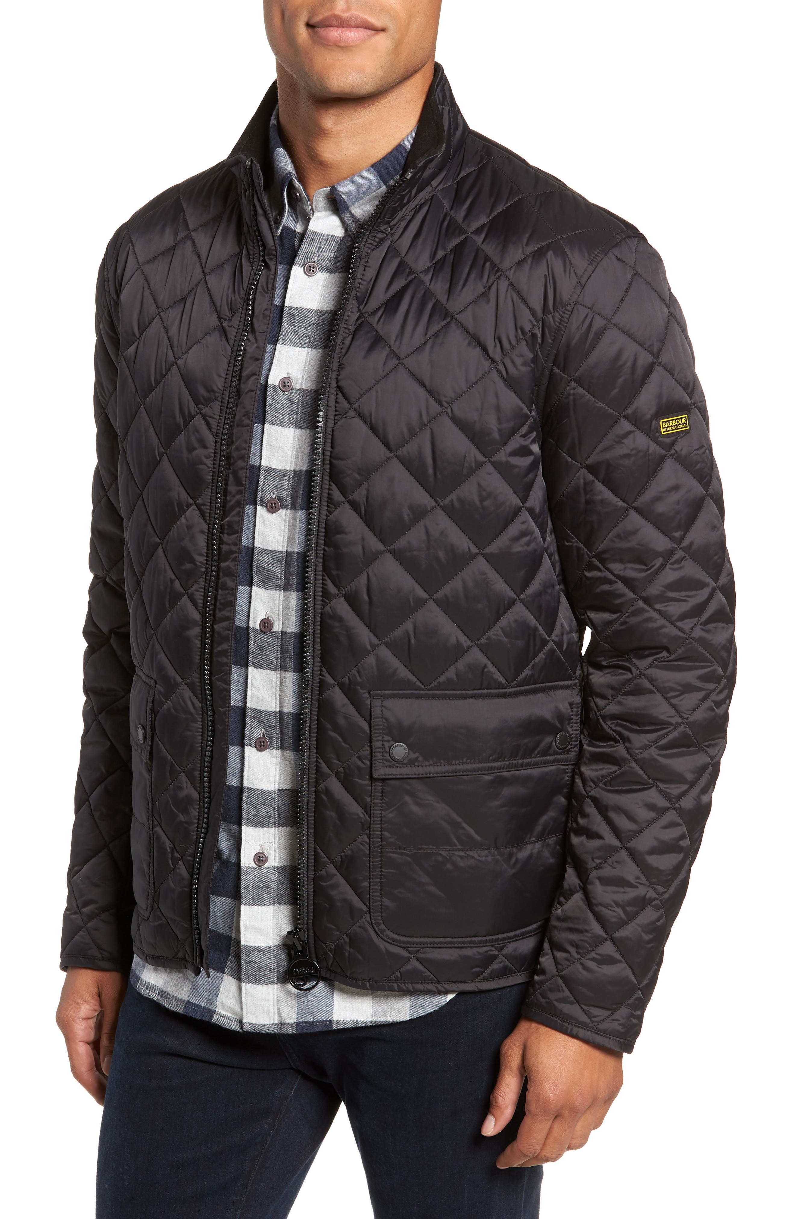 International Frame Quilted Jacket,                             Main thumbnail 1, color,                             001