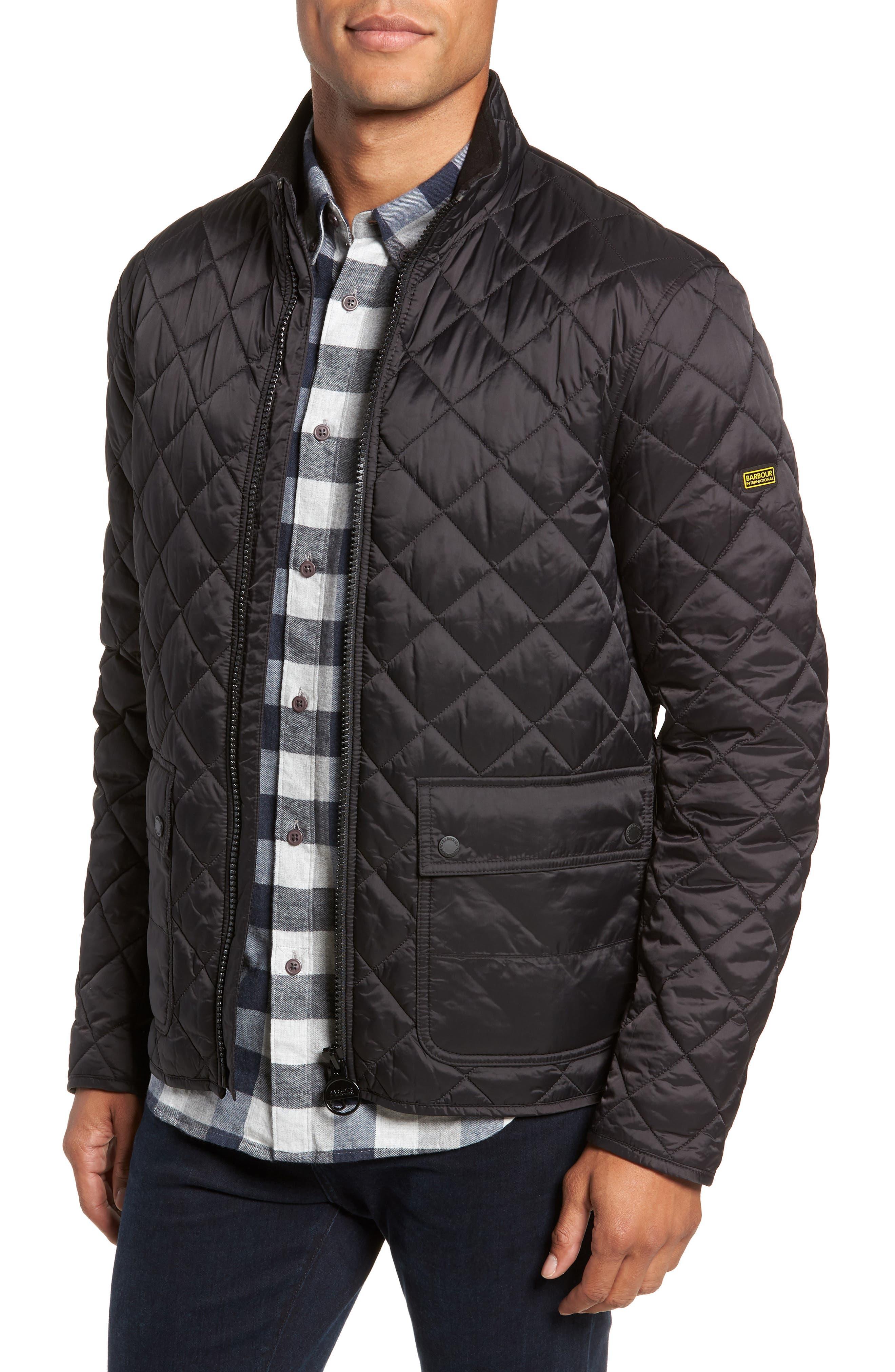International Frame Quilted Jacket,                         Main,                         color, 001