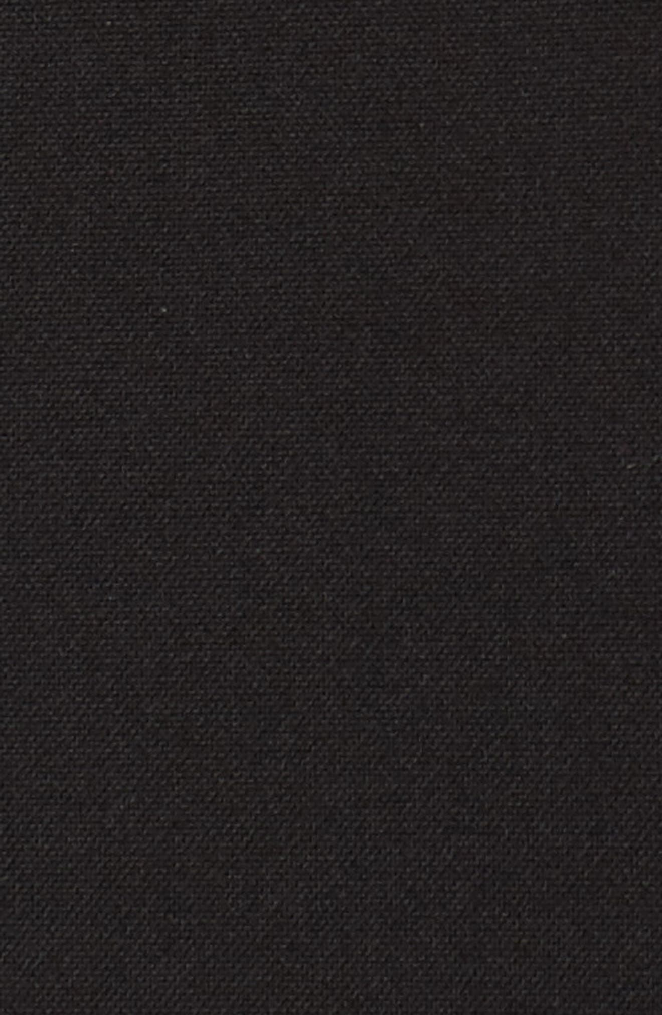 Tania Lace-Up Jumpsuit,                             Alternate thumbnail 5, color,                             BLACK