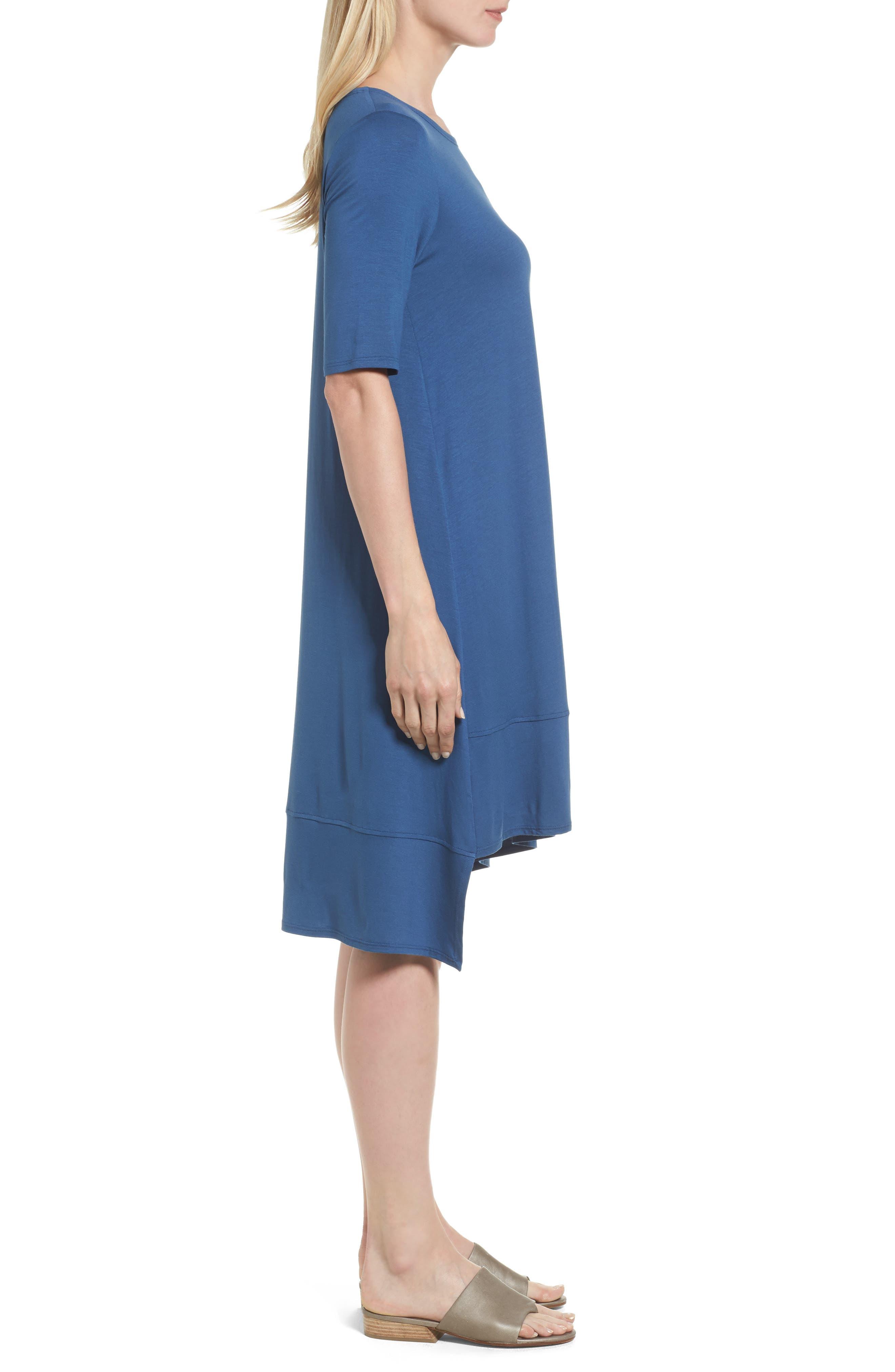 Jersey Asymmetrical A-Line Dress,                             Alternate thumbnail 14, color,