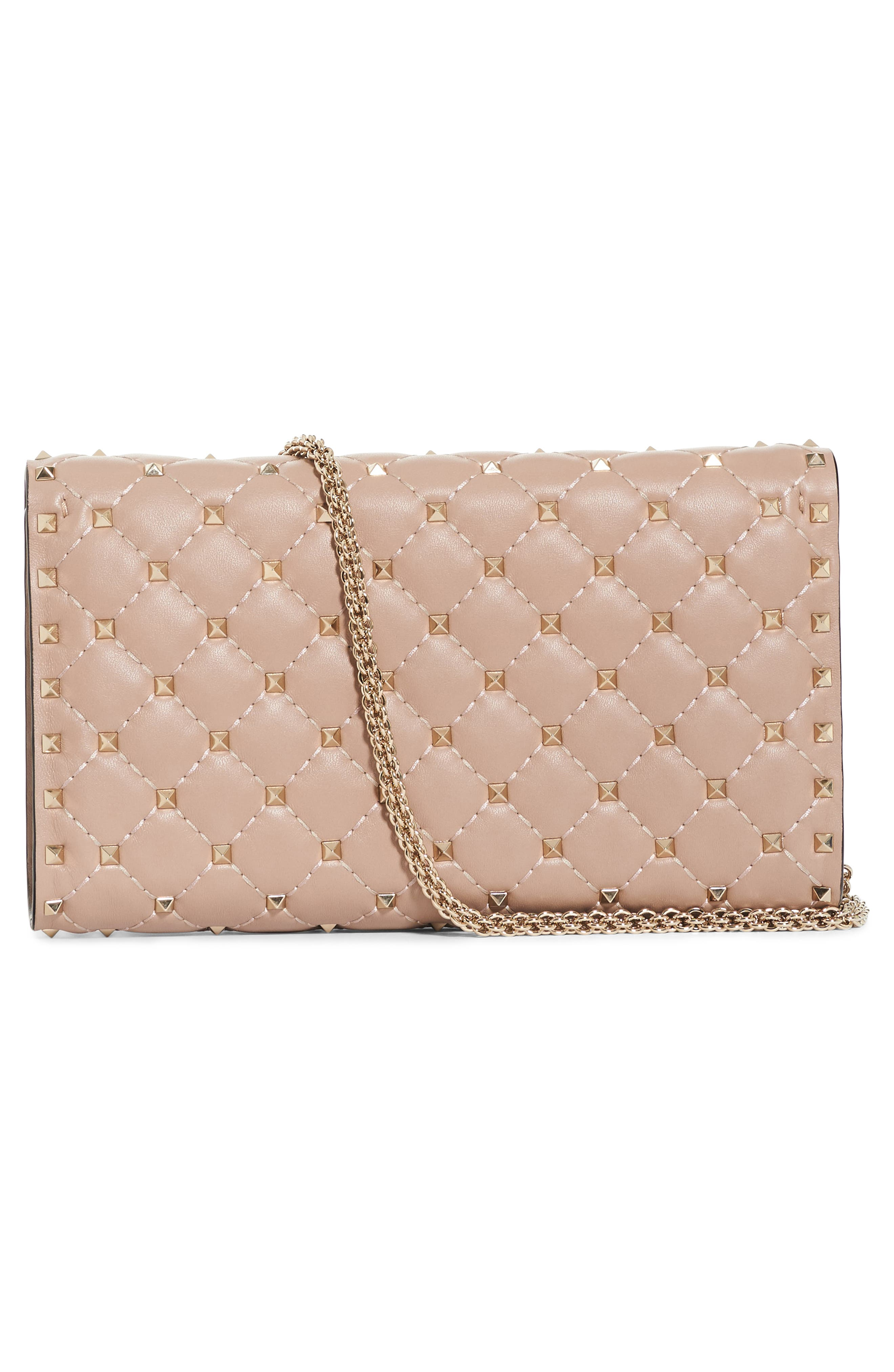 Rockstud Spike Wallet on a Chain,                             Main thumbnail 1, color,                             681