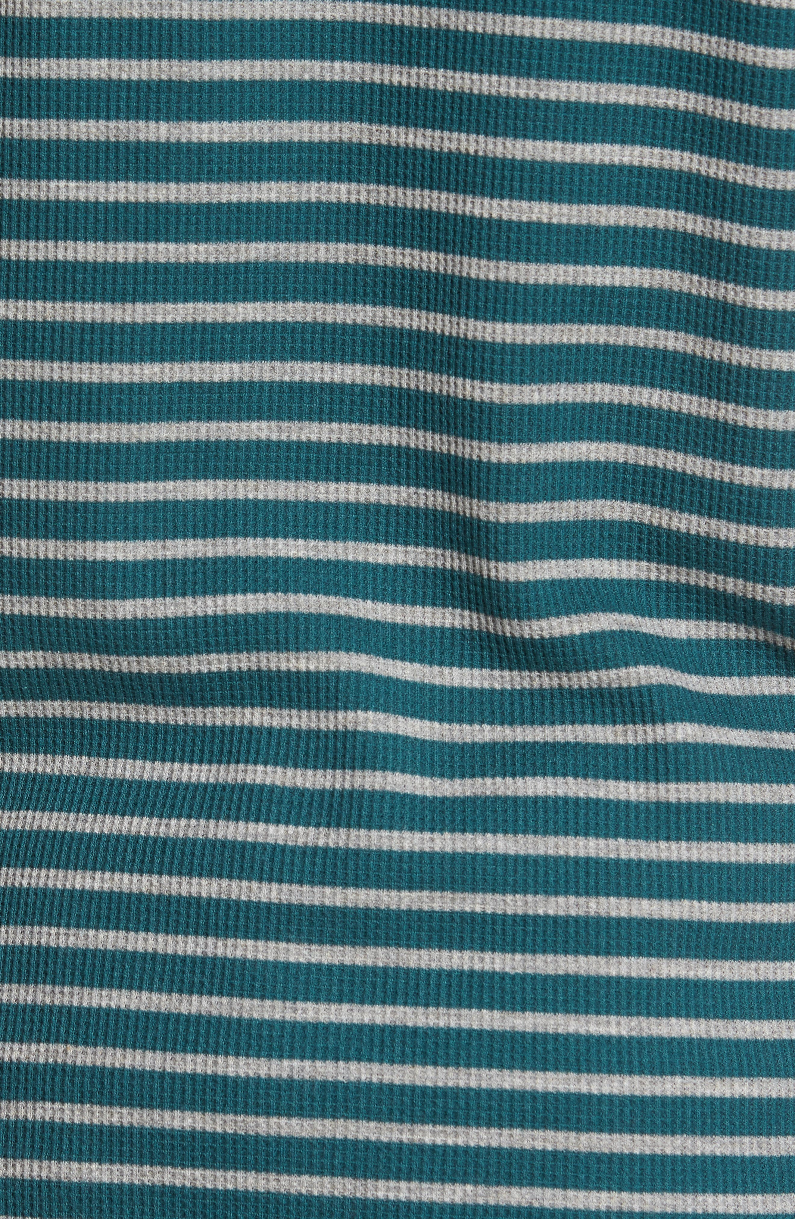 Stripe Waffle Henley,                             Alternate thumbnail 5, color,                             100