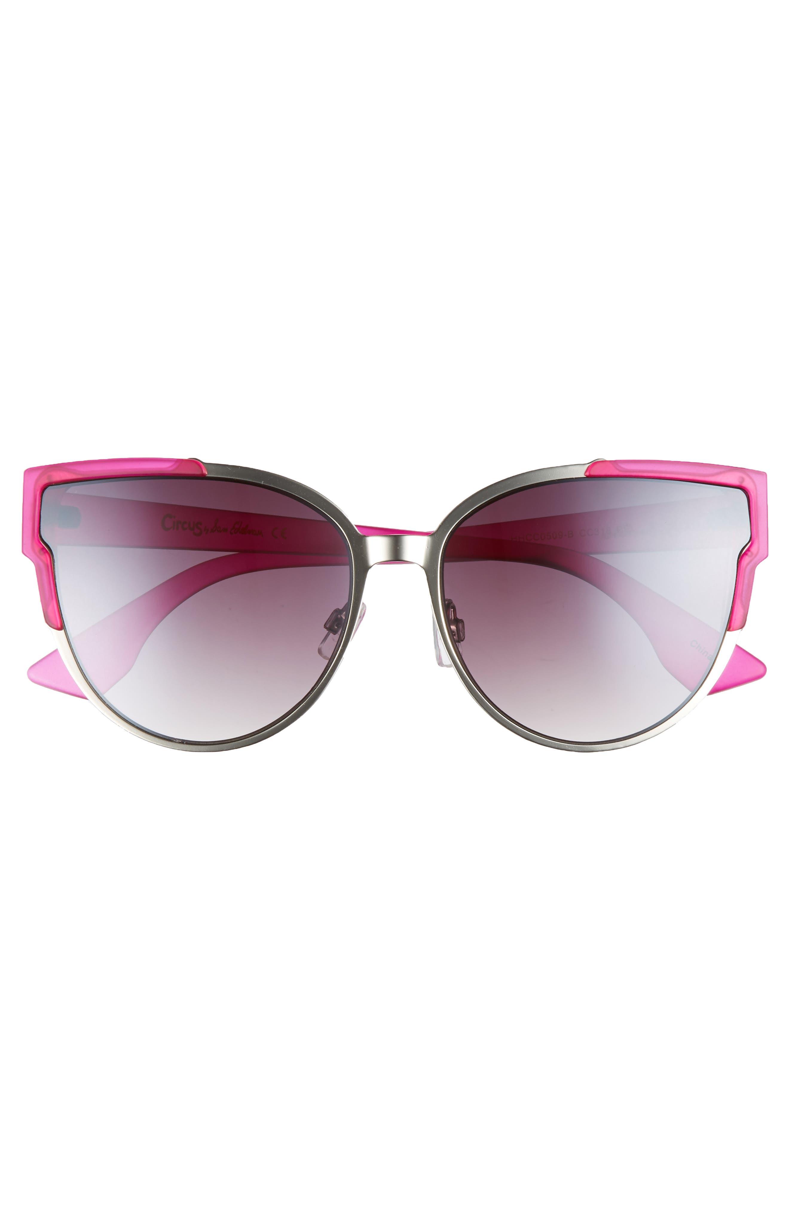 56mm Combo Cat Eye Sunglasses,                             Alternate thumbnail 12, color,