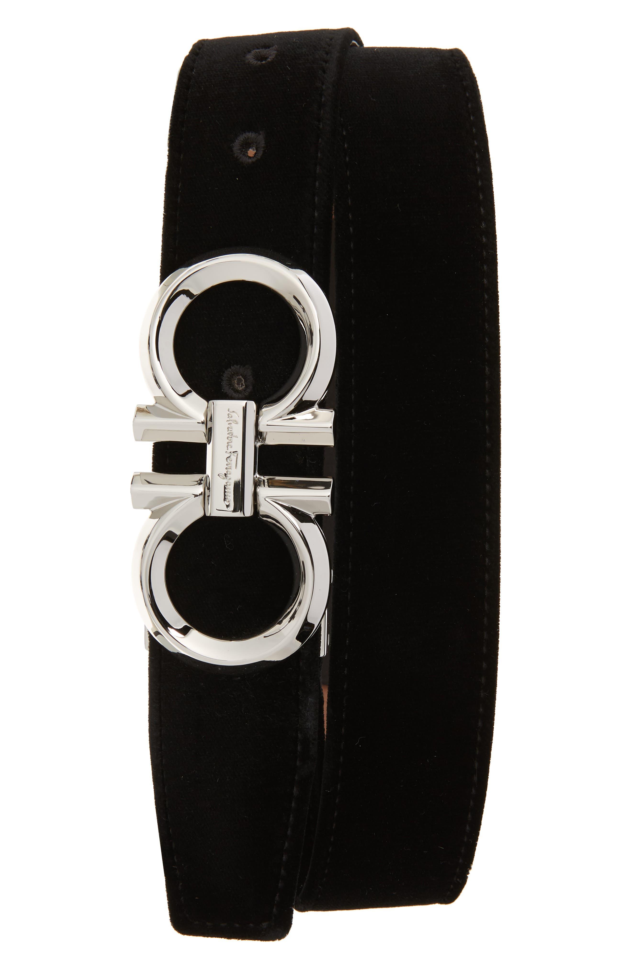 Velvet Belt,                         Main,                         color, NERO
