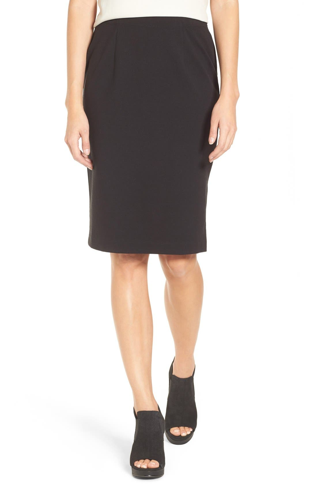 Stretch Ponte Pencil Skirt,                         Main,                         color,