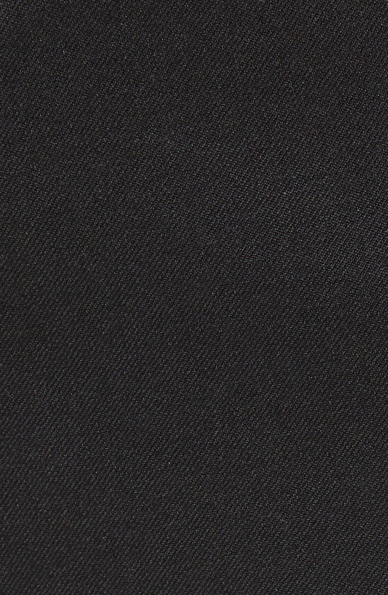 Flat Front Tech-Smart Extra Trim Trousers,                             Alternate thumbnail 5, color,                             001