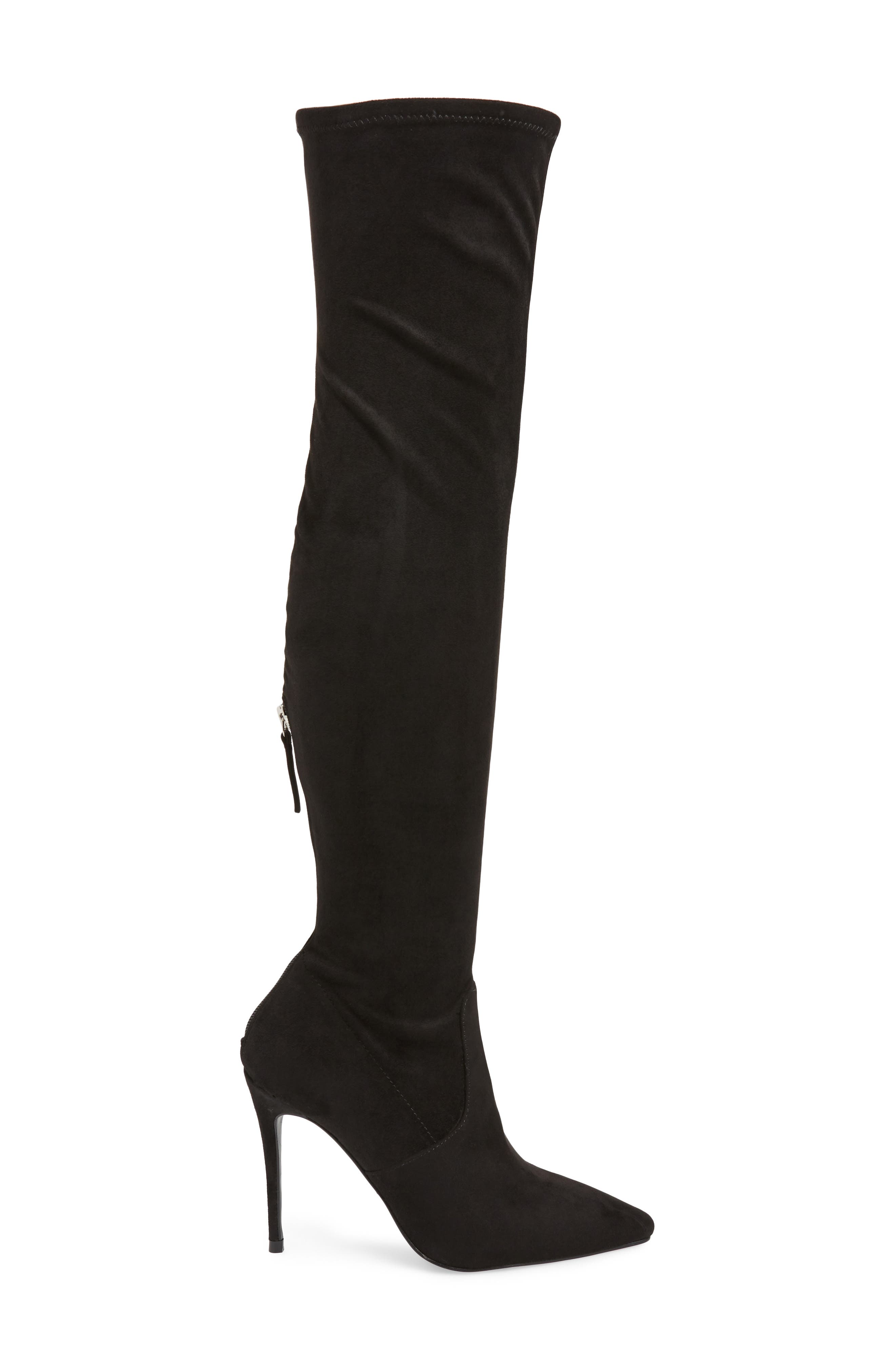 Devine Over the Knee Boot,                             Alternate thumbnail 3, color,                             BLACK SUEDE