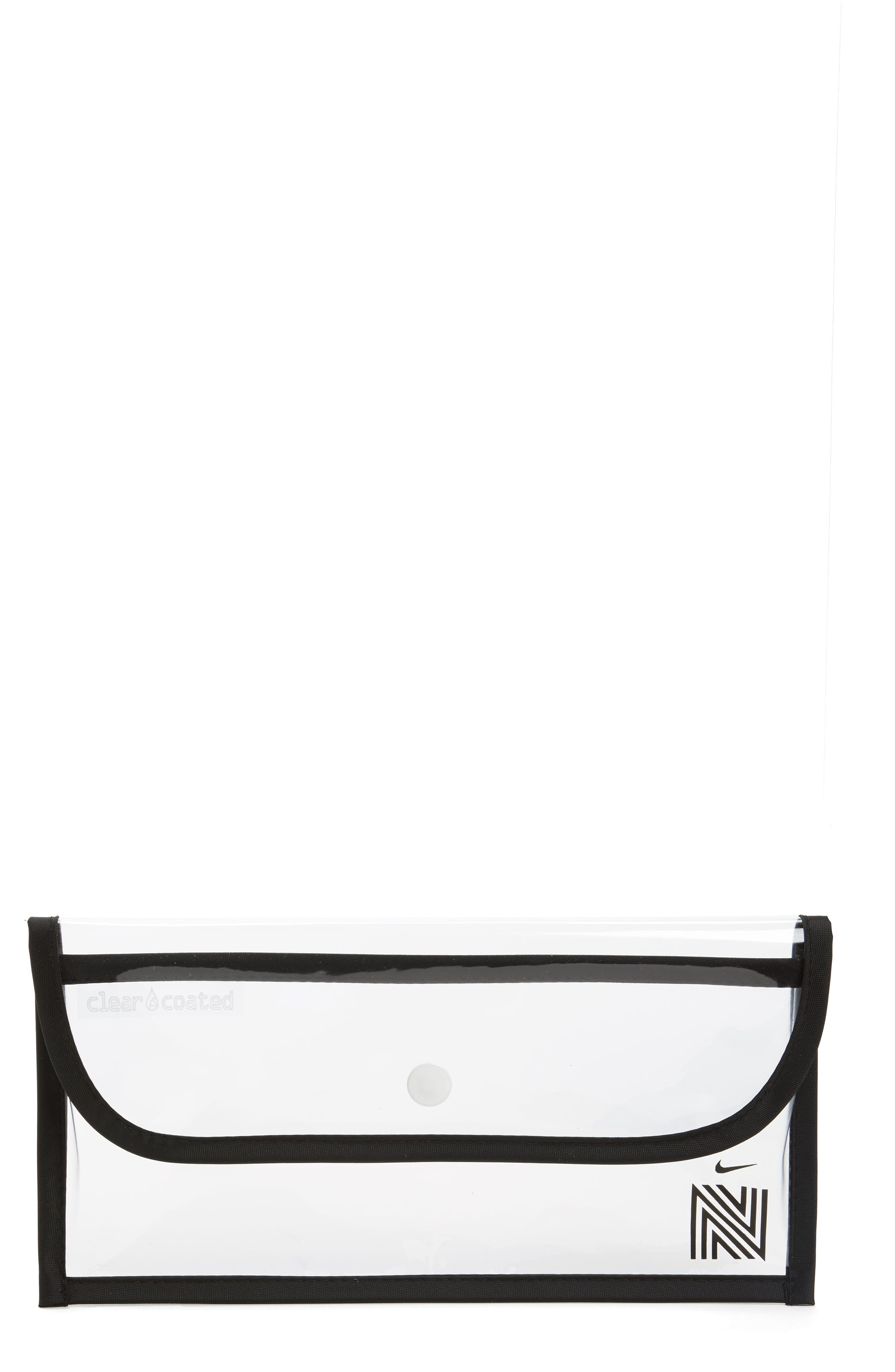 THREE POTATO FOUR Clear Coated Nordstrom x Nike Translucent Clutch, Main, color, 960