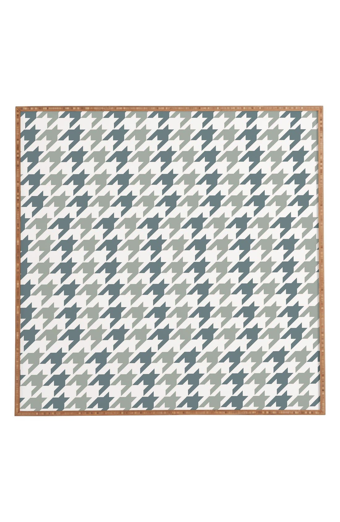 'Houndstooth' Framed Wall Art,                             Main thumbnail 1, color,                             BLUE