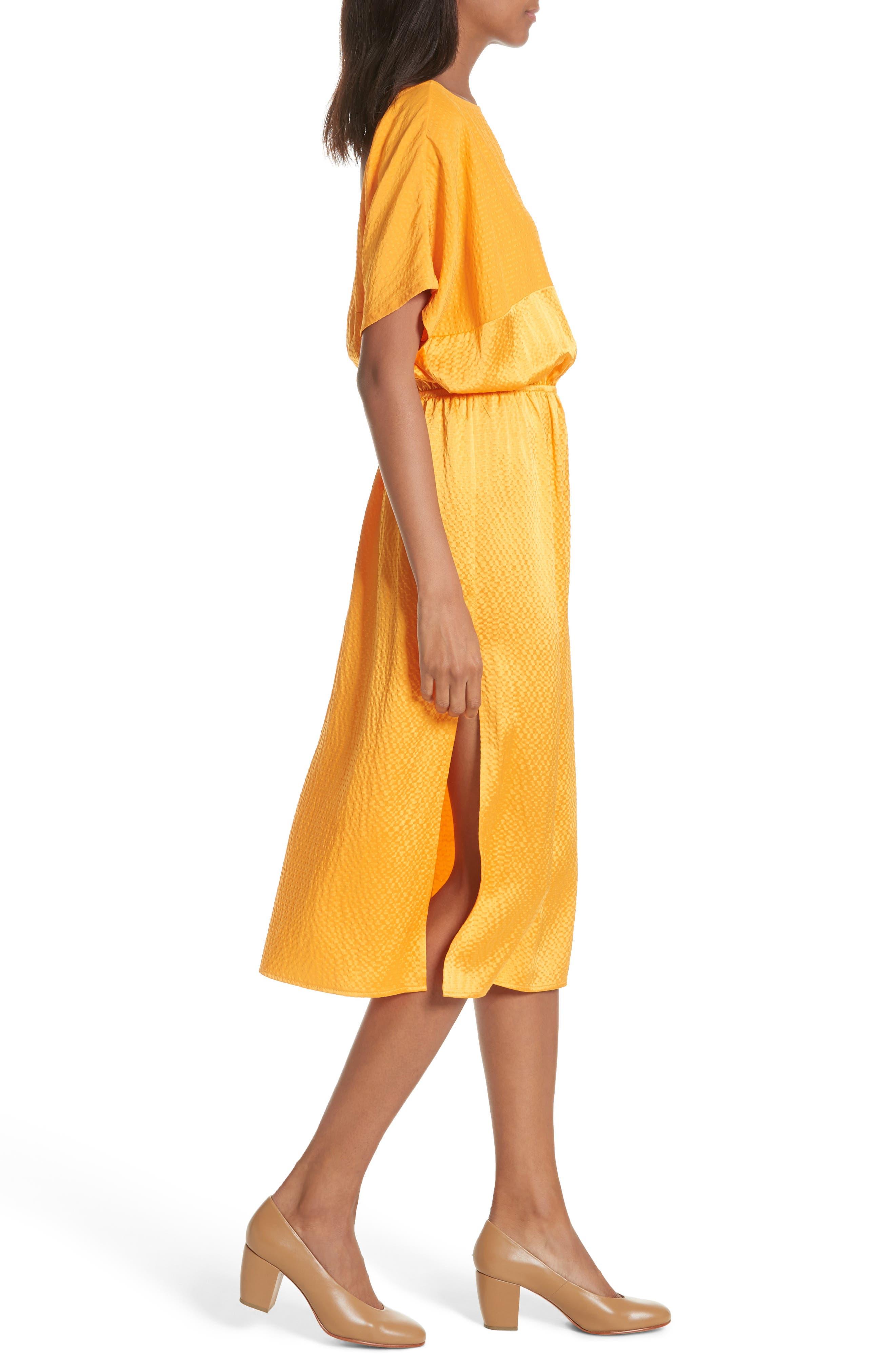Tonic Silk Midi Dress,                             Alternate thumbnail 4, color,                             850