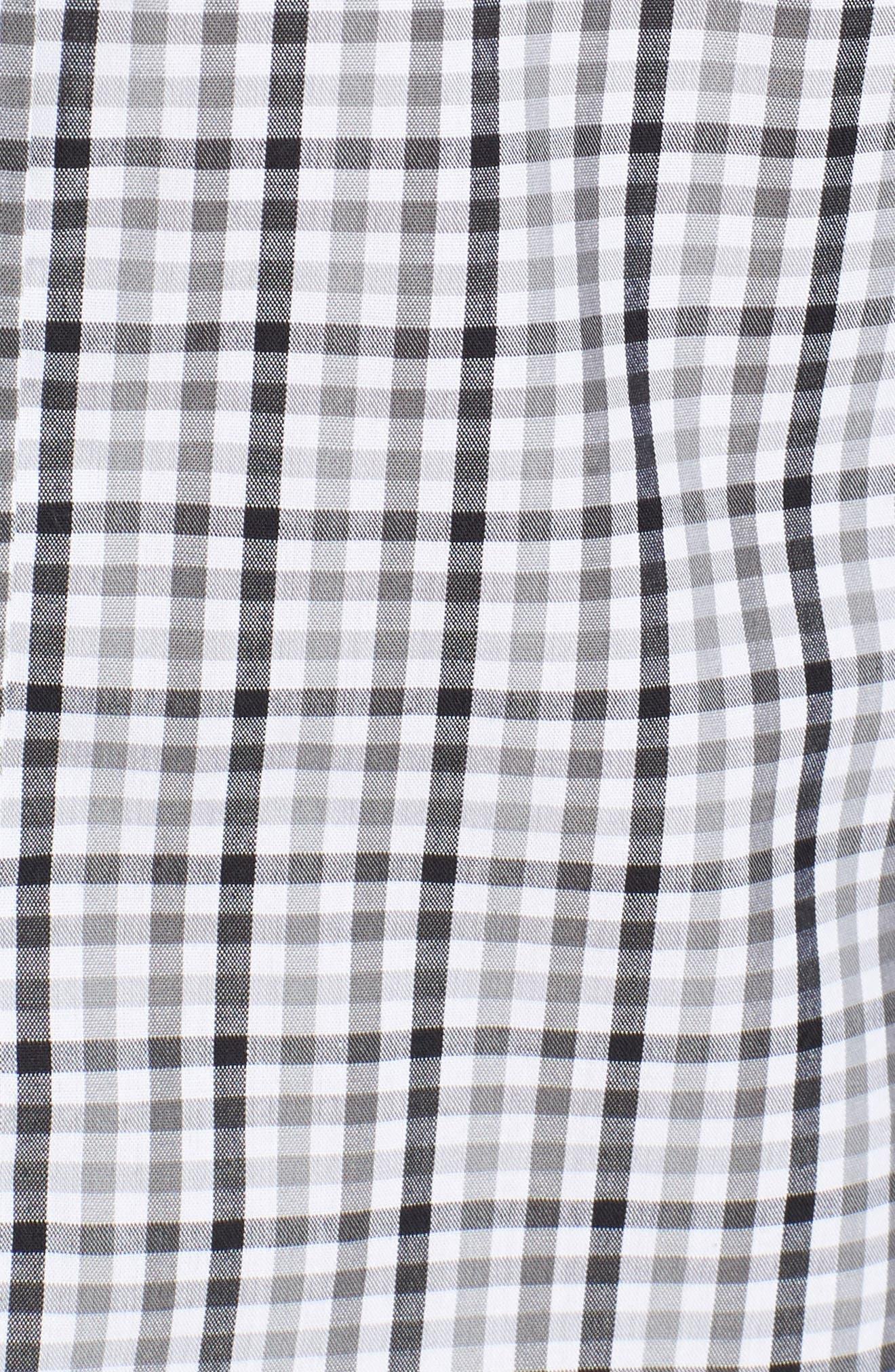 Tampa Bay Buccaneers - Gilman Regular Fit Plaid Sport Shirt,                             Alternate thumbnail 5, color,                             BLACK