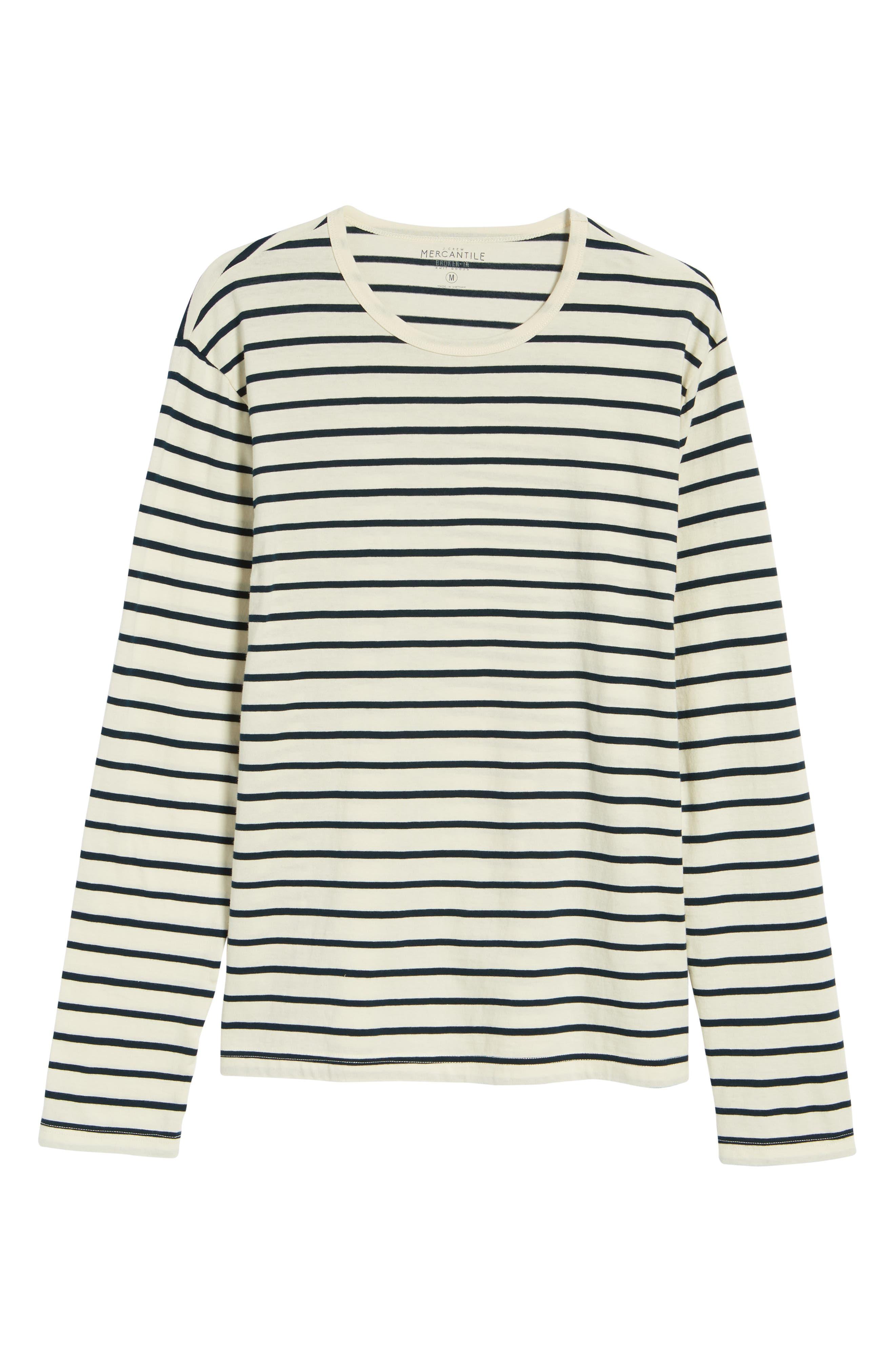 Mercantile Stripe Long Sleeve T-Shirt,                             Alternate thumbnail 6, color,                             100