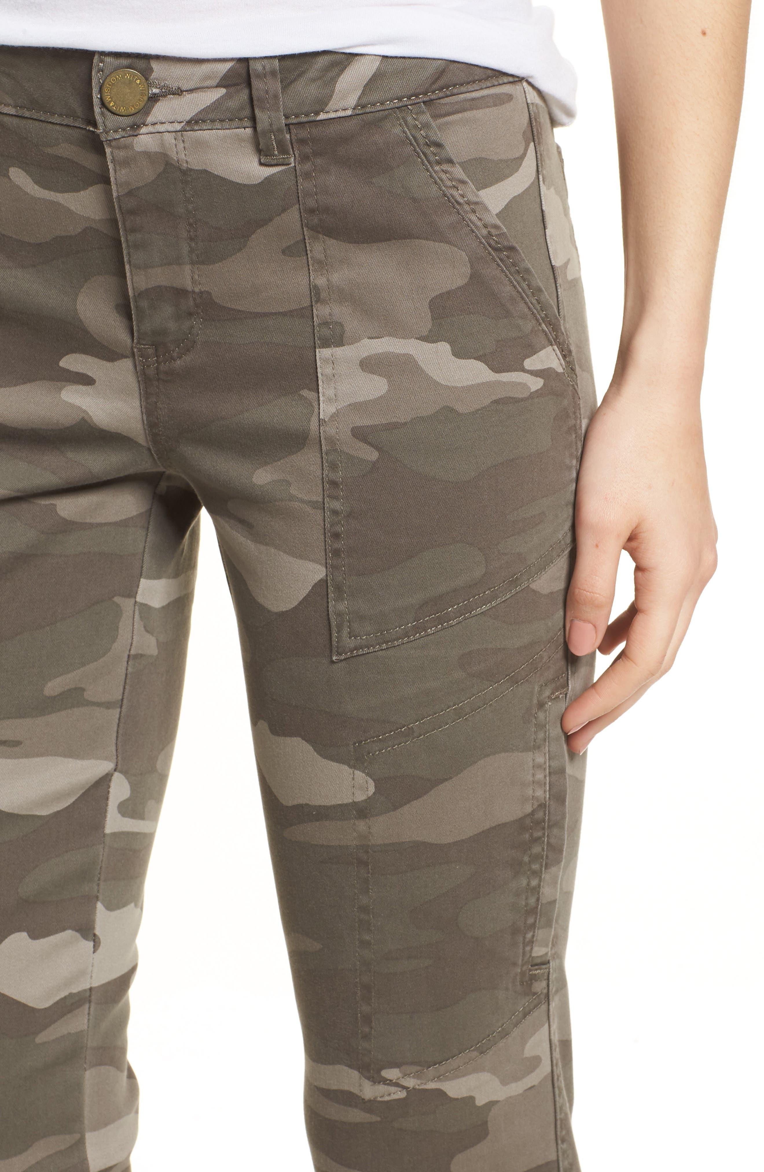 Twill Camo Cargo Pants,                             Alternate thumbnail 4, color,                             210