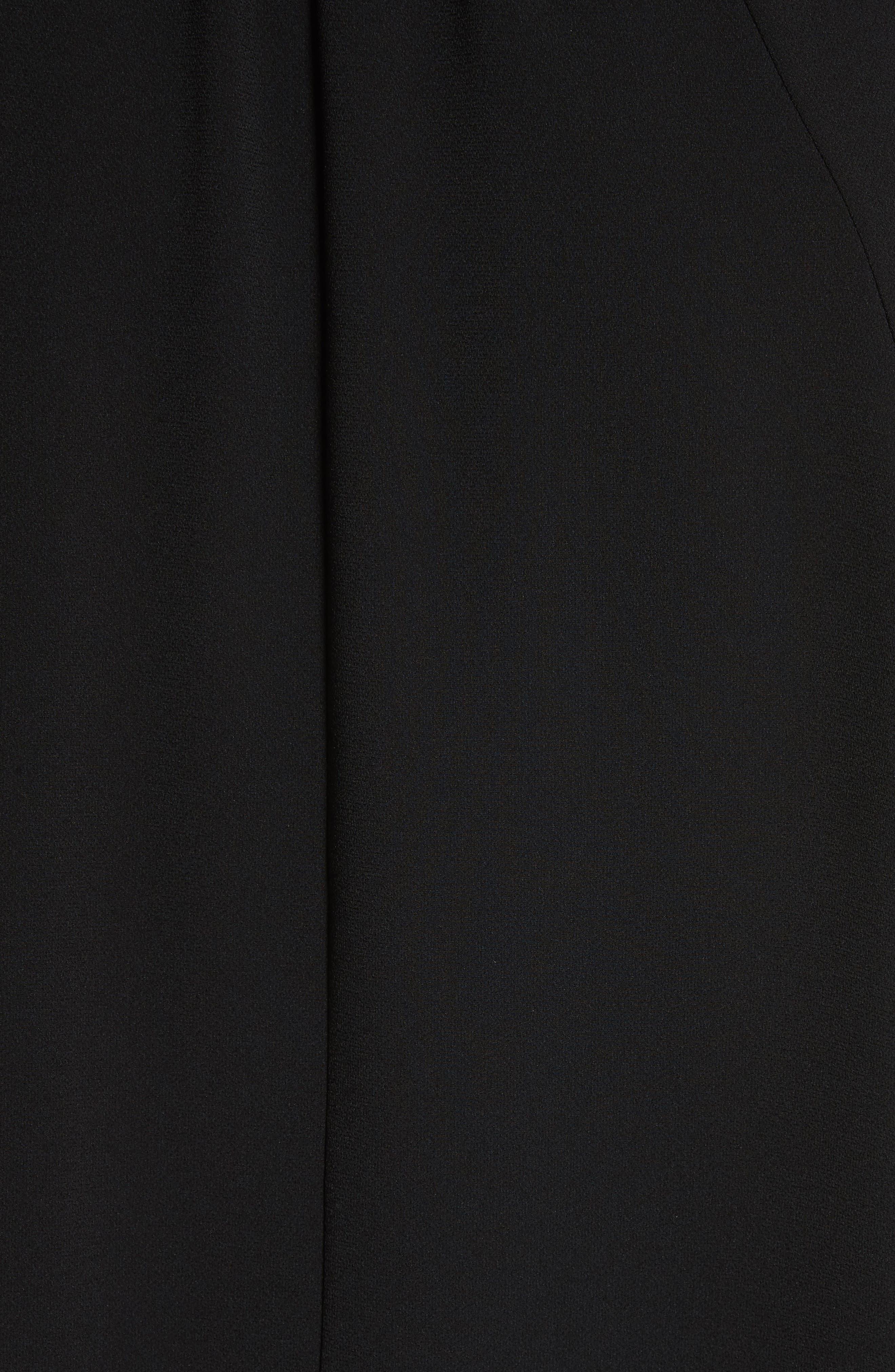 Tie Neck Blouse,                             Alternate thumbnail 5, color,                             BLACK