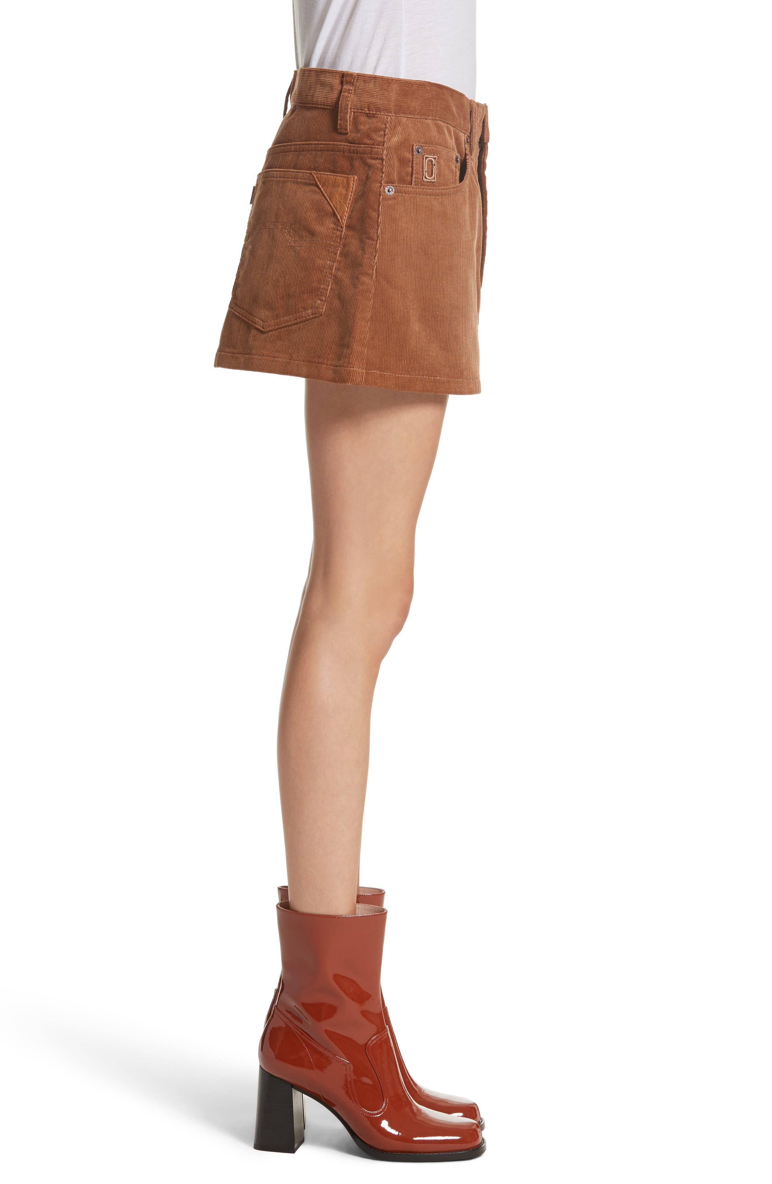 Corduroy Miniskirt,                             Alternate thumbnail 3, color,                             200