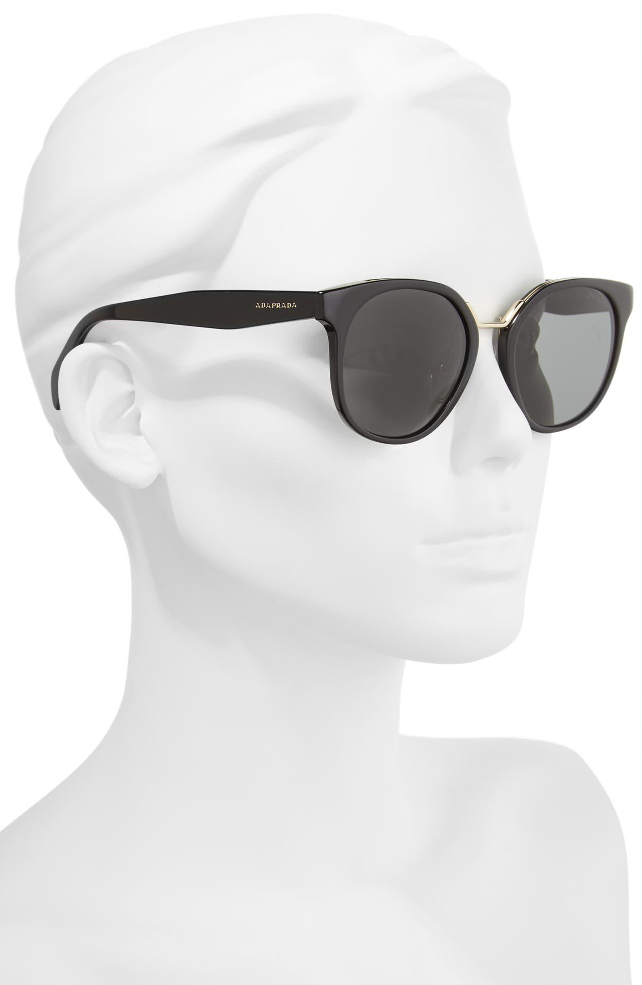 53mm Horn-Rimmed Sunglasses,                             Alternate thumbnail 2, color,                             020