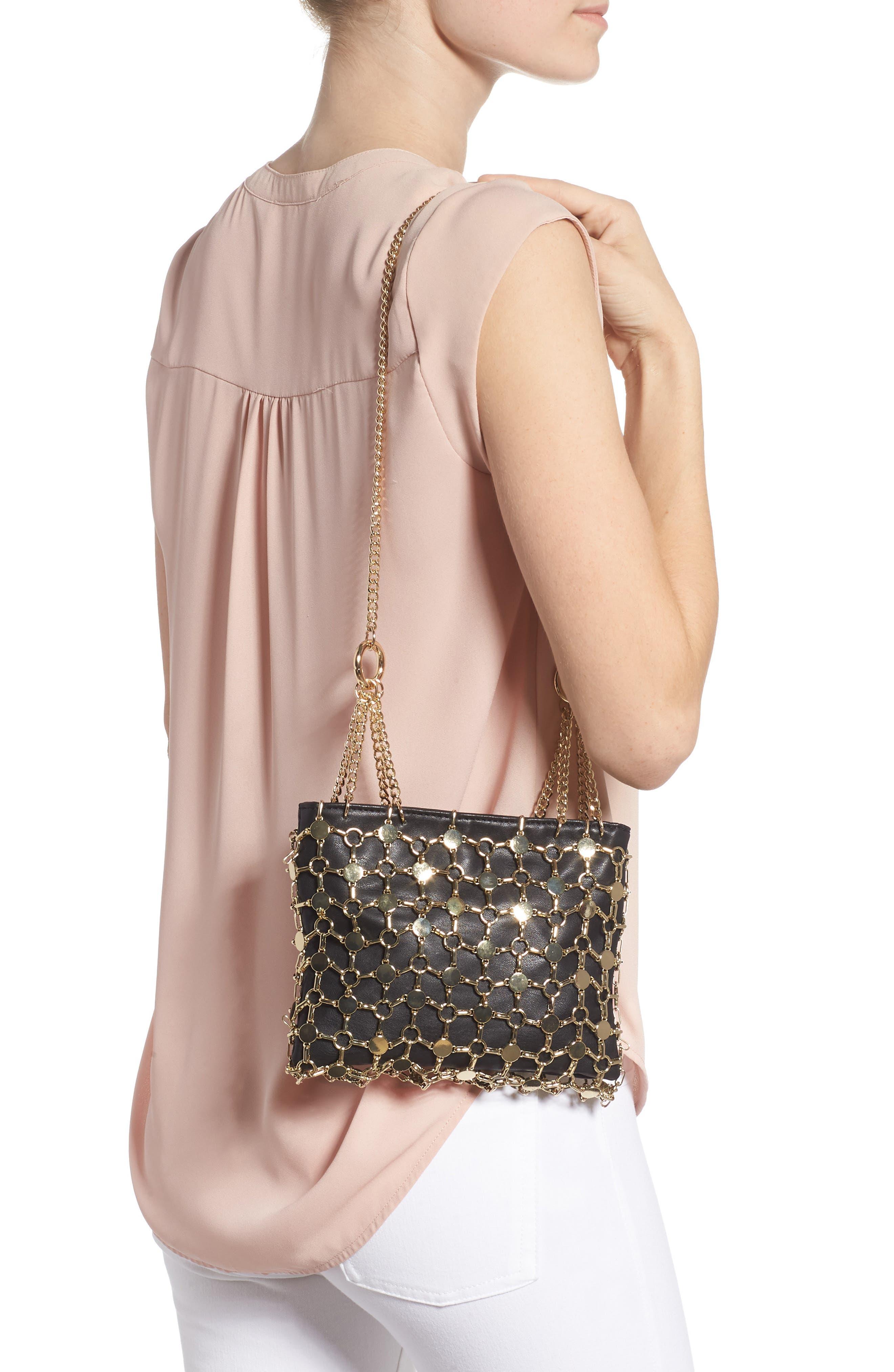 Multi Chain Shoulder Bag,                             Alternate thumbnail 2, color,                             GOLD MULTI