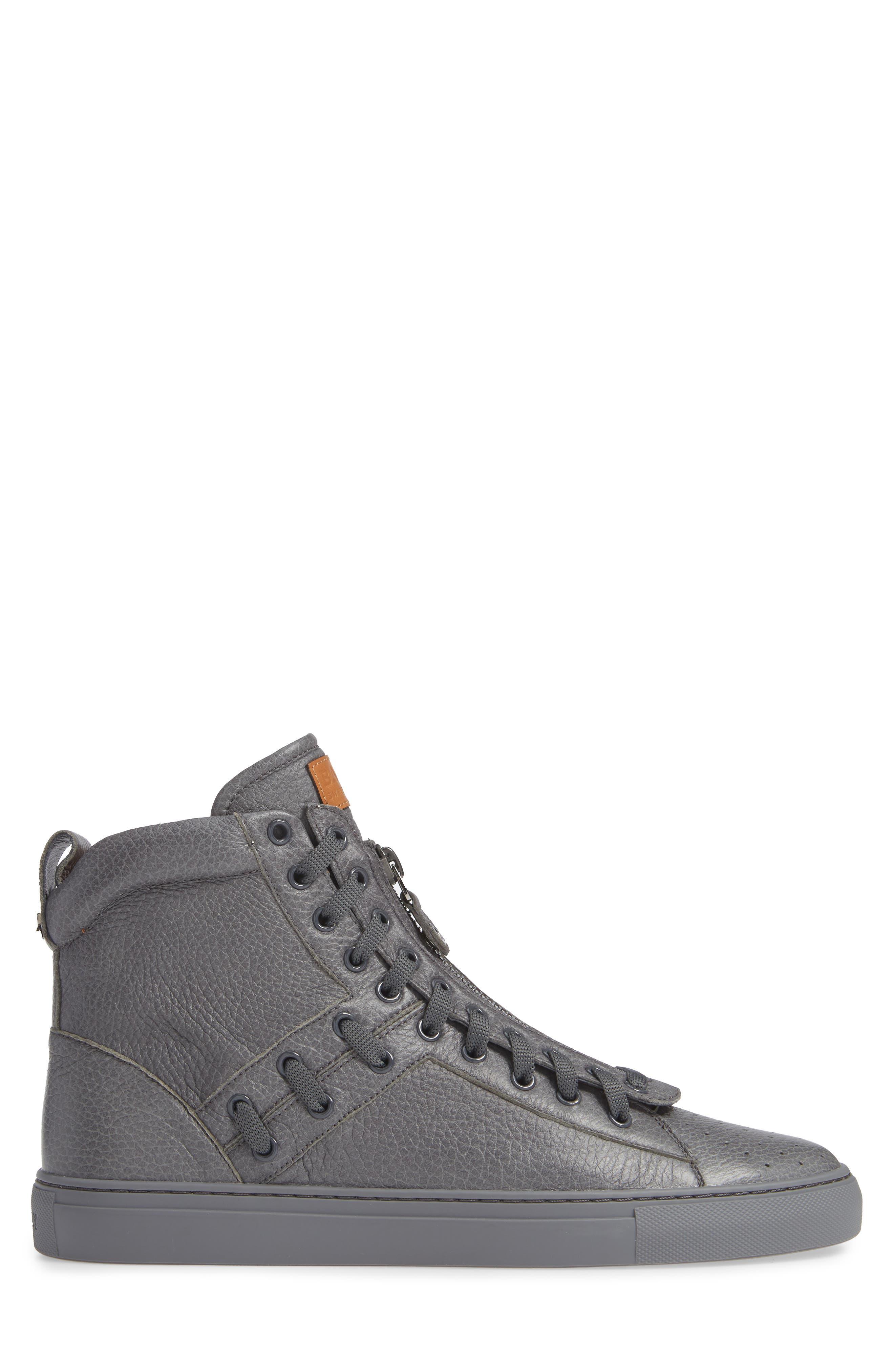 Hekem High-Top Sneaker,                             Alternate thumbnail 3, color,                             GARCONE GREY